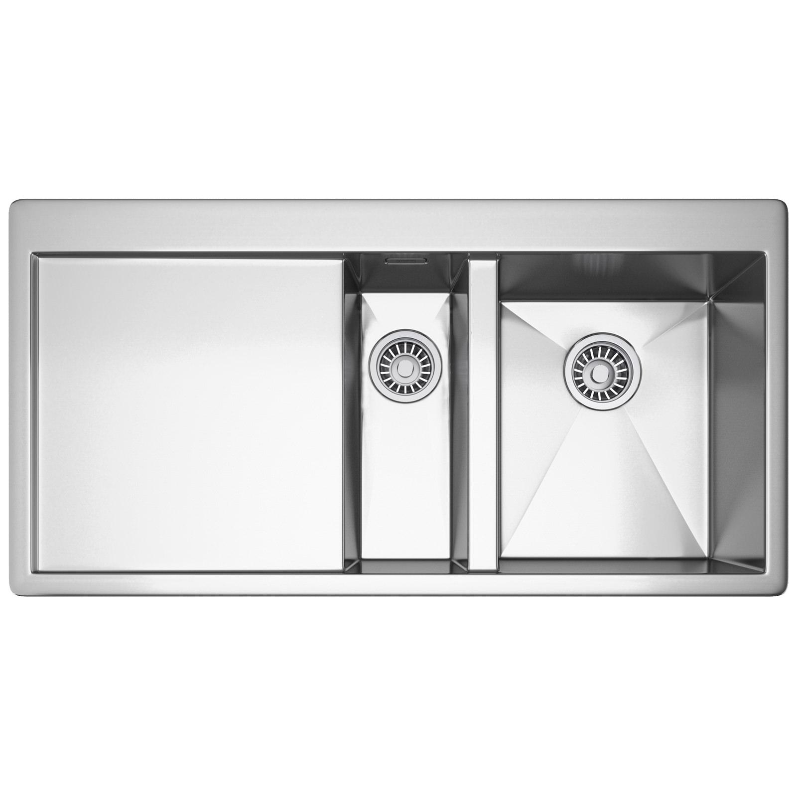 Franke Planar PPX 251 Slim-Top 1.5 Bowl Stainless Steel Inset Sink ...