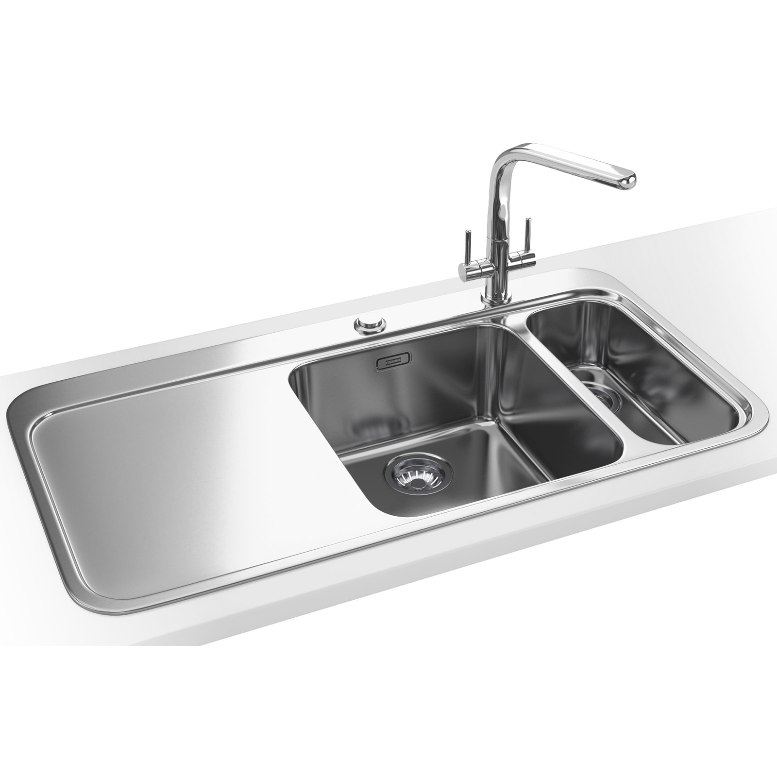 Franke Sinos Dp Snx 261 1 5 Bowl Stainless Steel Sink And Tap 1270364712
