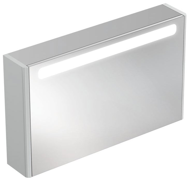 ideal standard bathroom cabinets ideal standard softmood mirror cabinet with light 1000 x 600mm 18788
