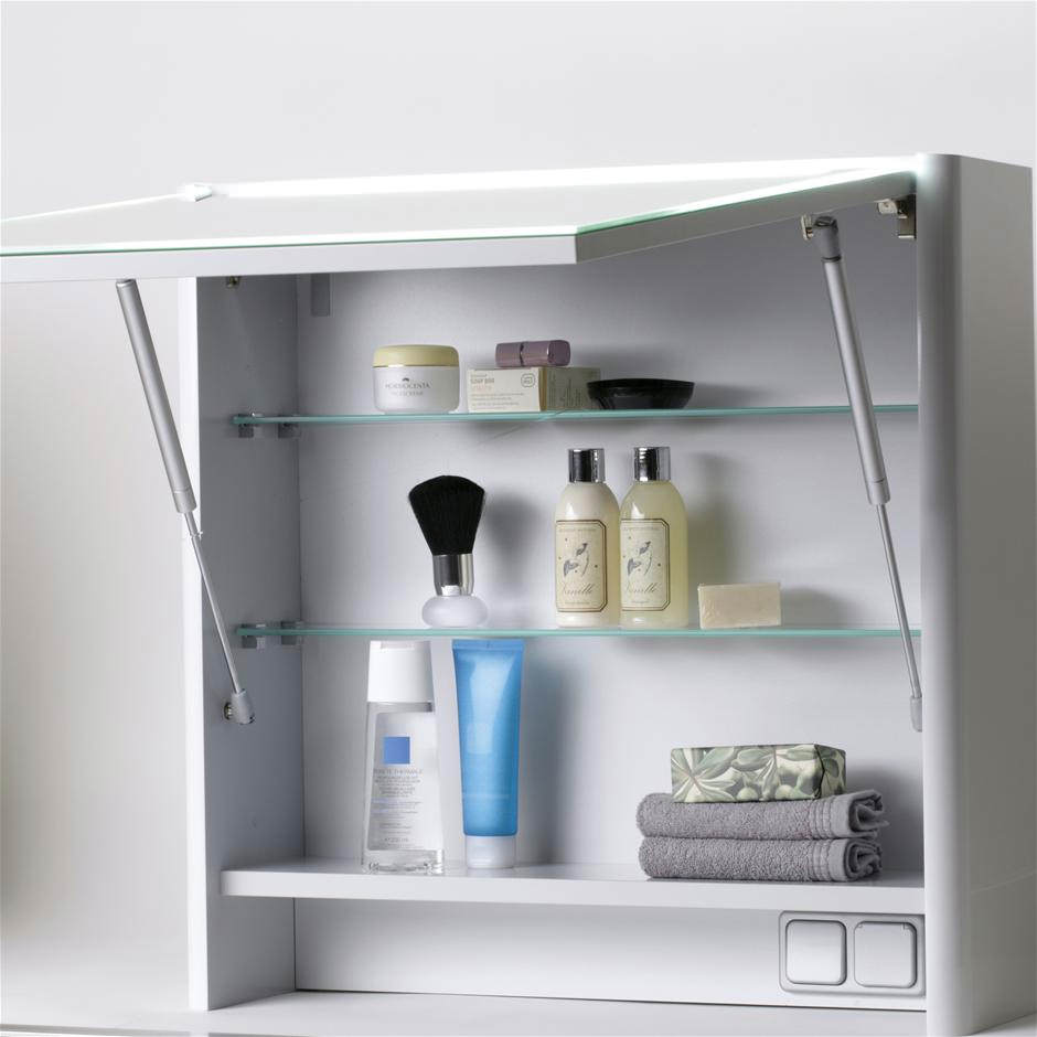 ideal standard softmood mirror cabinet with light 800 x 600mm