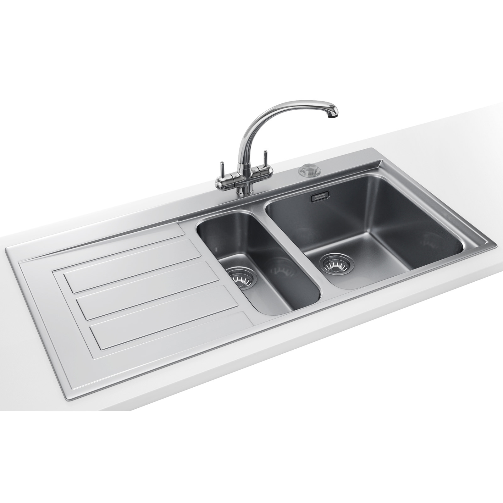 Franke Sinks And Taps : Franke Epos Propack EOX 651 Stainless Steel Kitchen Sink And Tap ...
