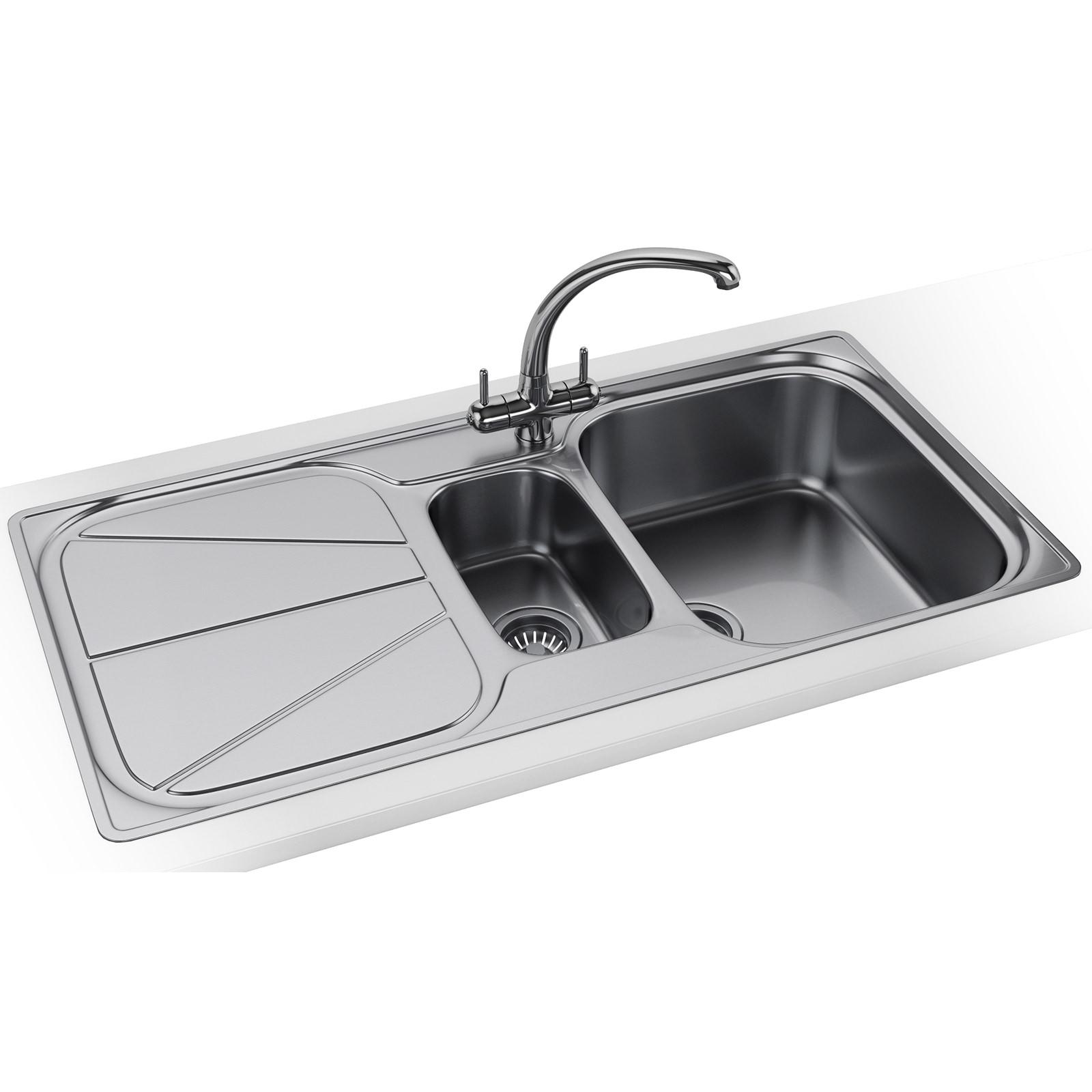 Franke Simplon Spx 651 Stainless Steel 1 5 Bowl Kitchen Inset Sink
