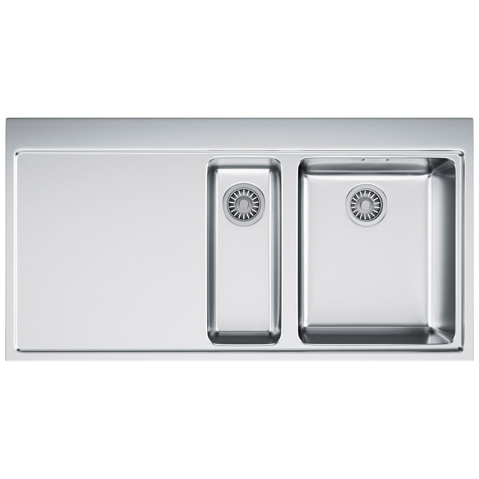 Franke Stainless Steel Sink : Franke Mythos MMX 251 Slim-Top 1.5 Bowl Stainless Steel Inset Sink ...