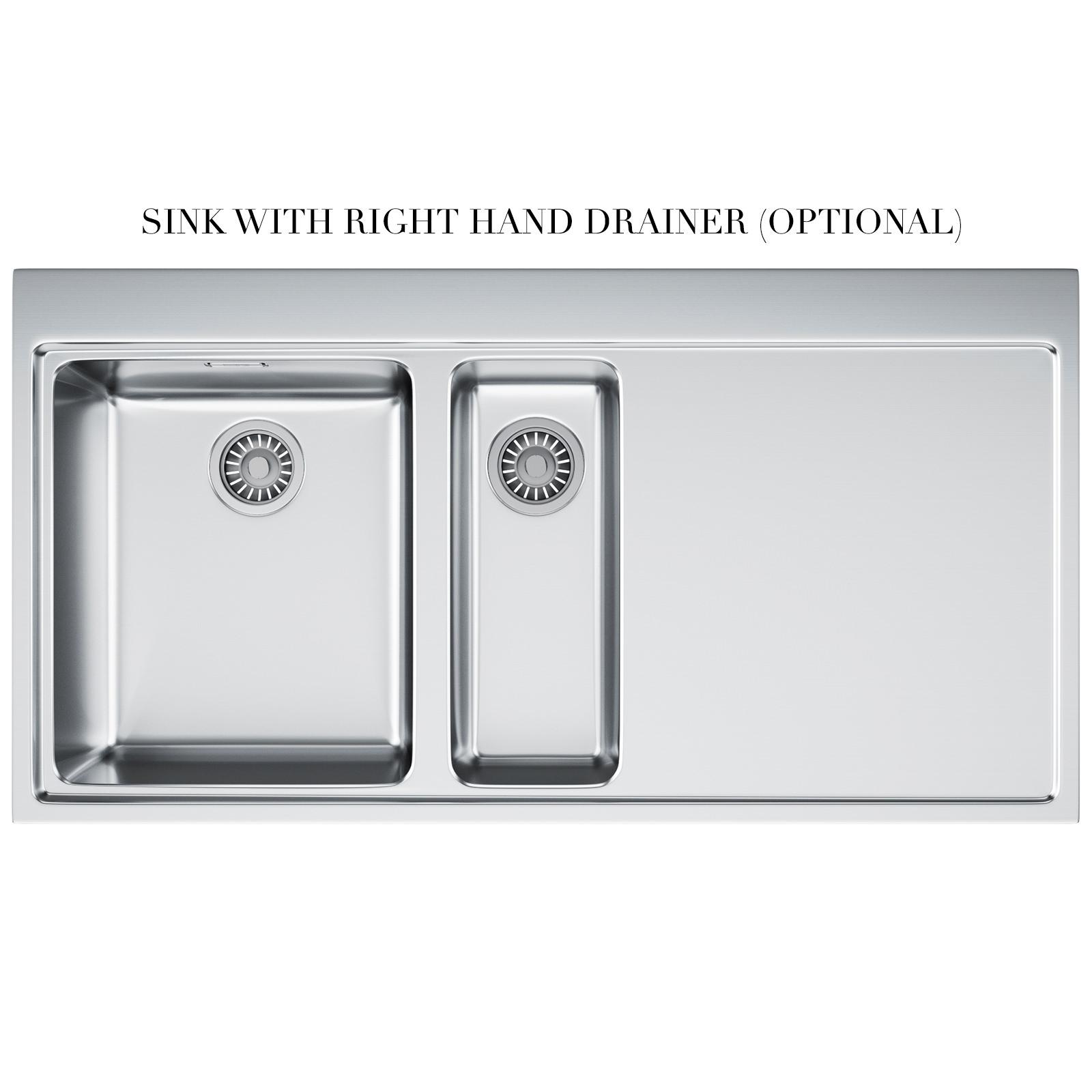 Franke Mythos MMX 251 Slim-Top 1.5 Bowl Stainless Steel Inset Sink ...
