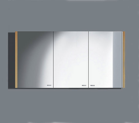 Duravit 2nd floor rosewood 1200mm mirror cabinet 2f965306767 for Bathroom cabinets 400mm wide