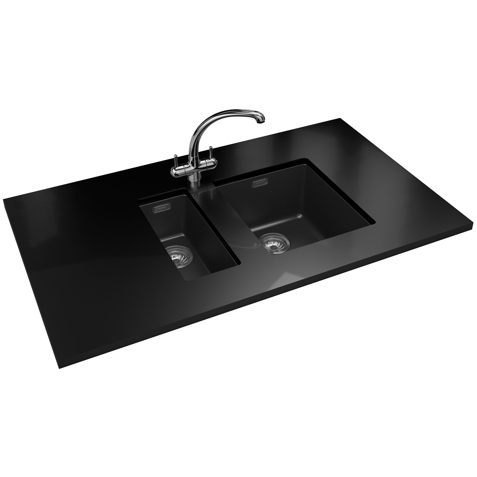 Franke Sink And Tap Packages : Franke Sirius PP SID 110 16 + SID 110 34 Tectonite Black Sink And Tap ...
