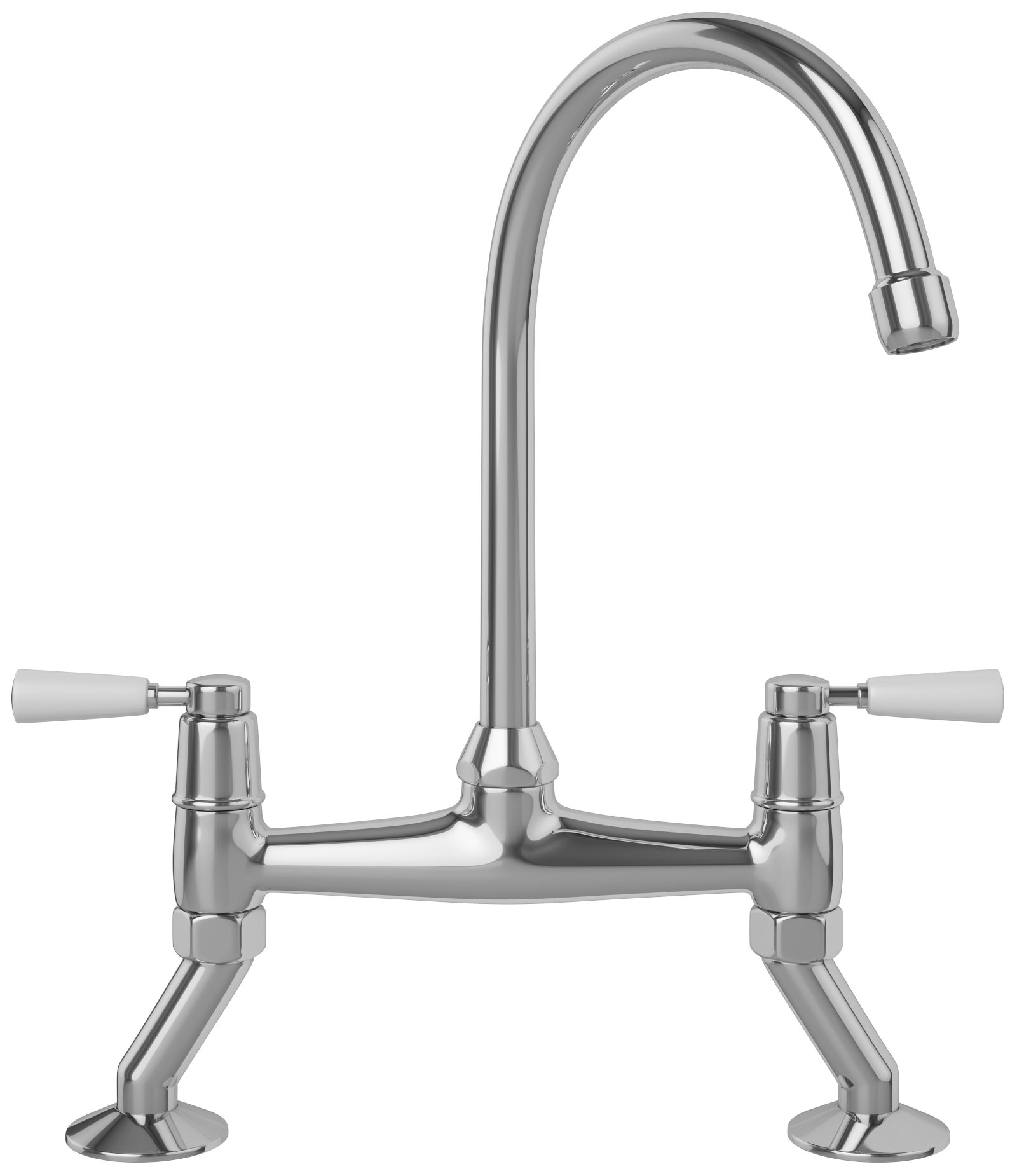 franke bridge lever kitchen sink mixer tap chrome - more finish