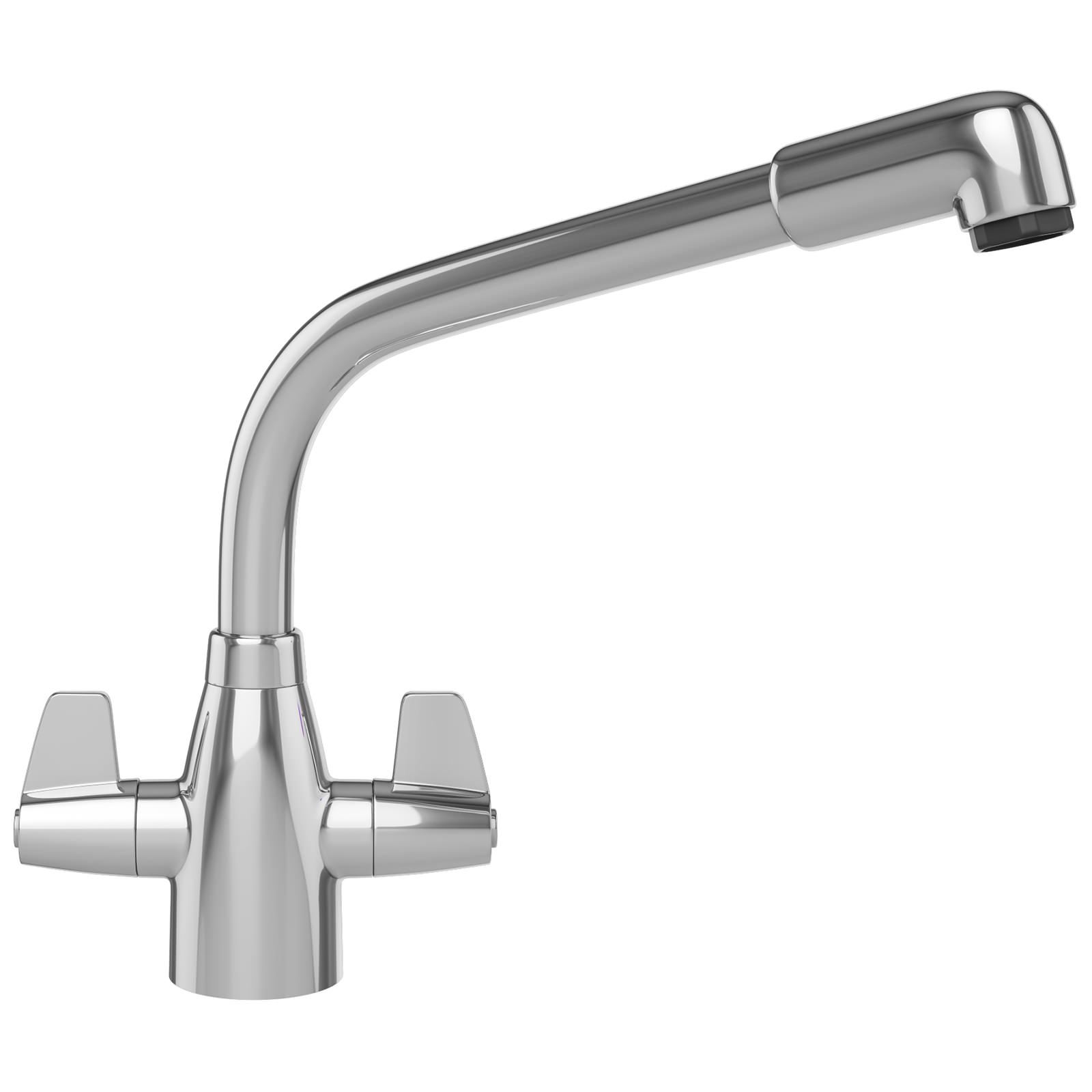 White Kitchen Mixer Tap franke davos kitchen sink mixer tap chrome | 1150046694