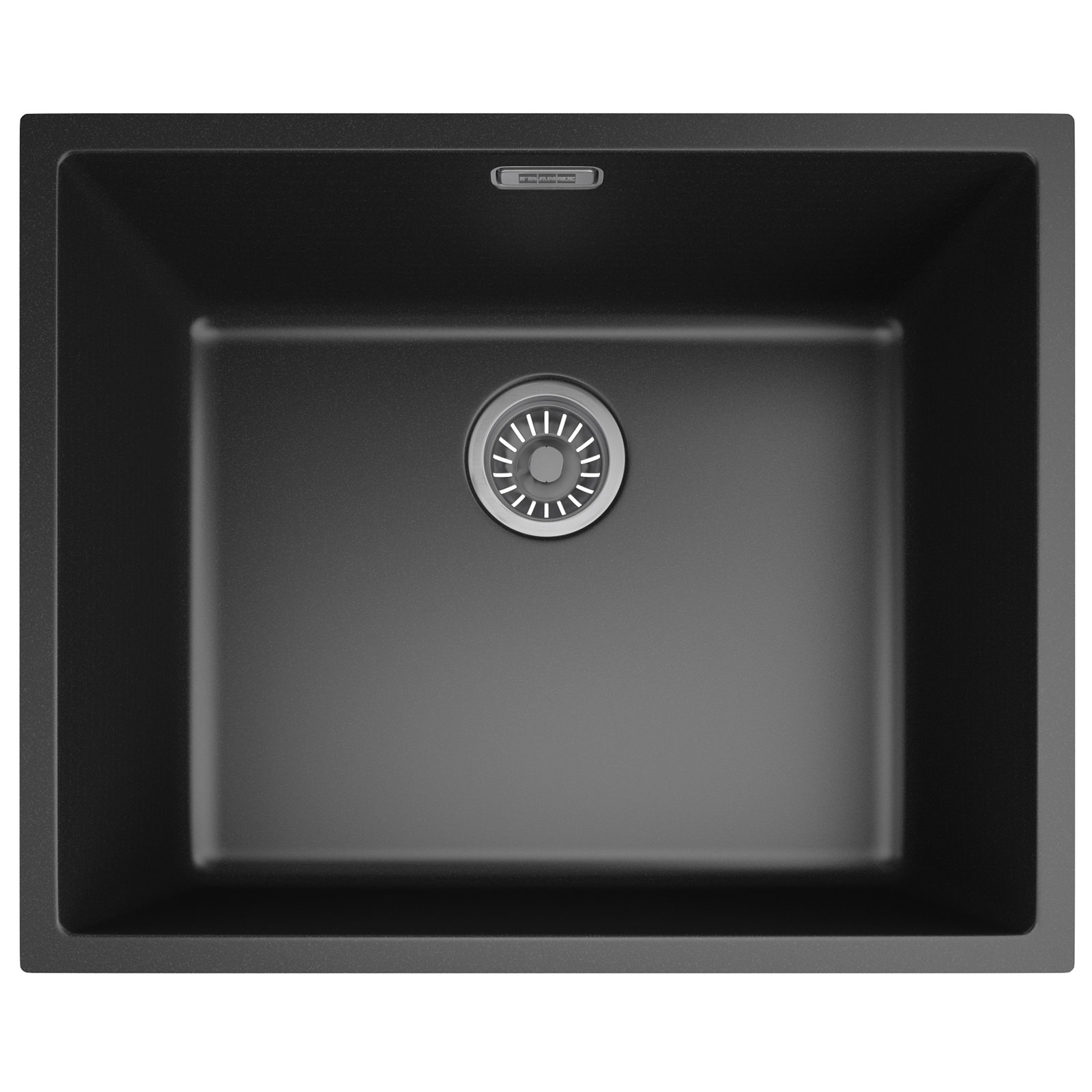 Franke Black Kitchen Sink: Franke Sirius SID 110 50 Tectonite Carbon Black 1.0 Bowl