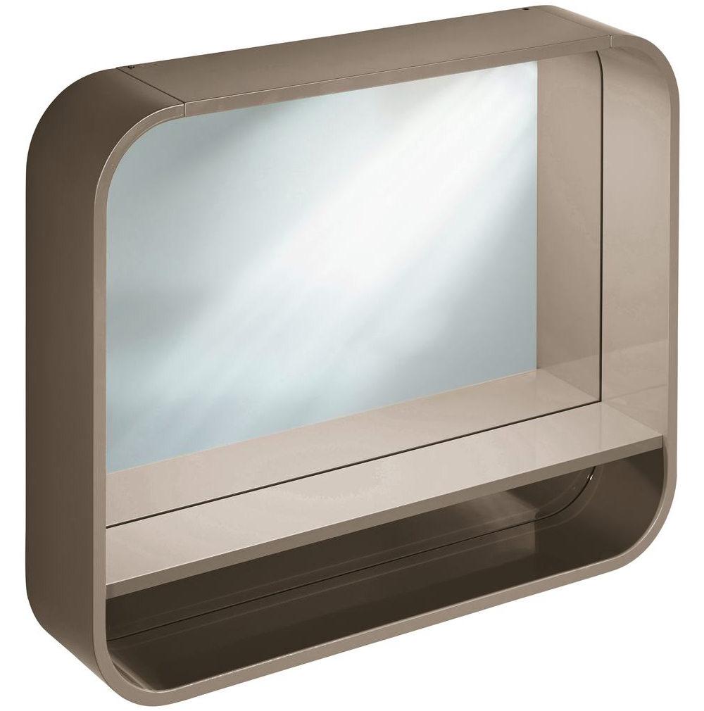 ideal standard dea 800mm framed mirror with shelf and led. Black Bedroom Furniture Sets. Home Design Ideas