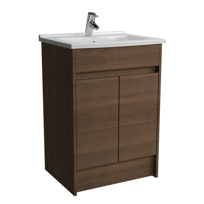 VitrA S50 Oak Floor Standing Unit With Washbasin   52981