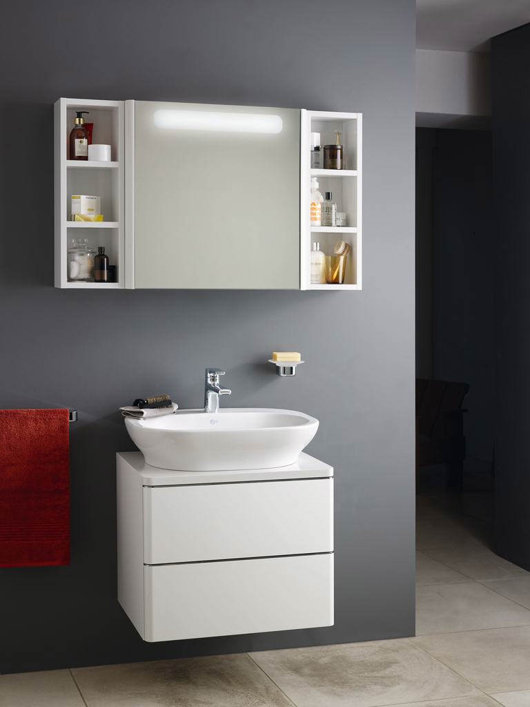 ideal standard bathroom cabinets ideal standard softmood mirror cabinet with light 800 x 600mm 18788