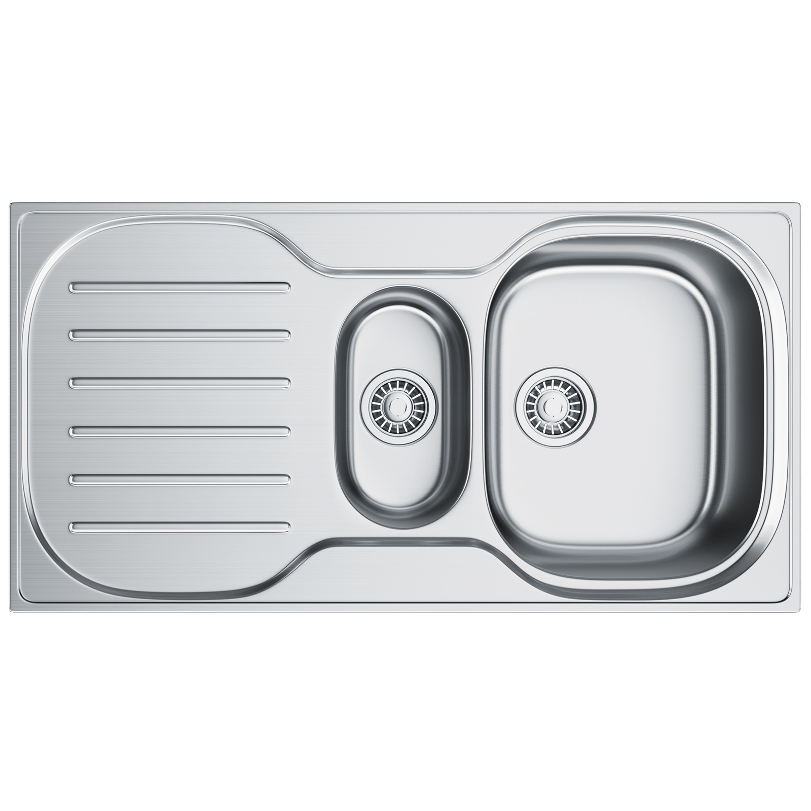 1.5 Bowl Kitchen Sink Franke compact plus crx p 651 15 bowl stainless steel inset sink workwithnaturefo