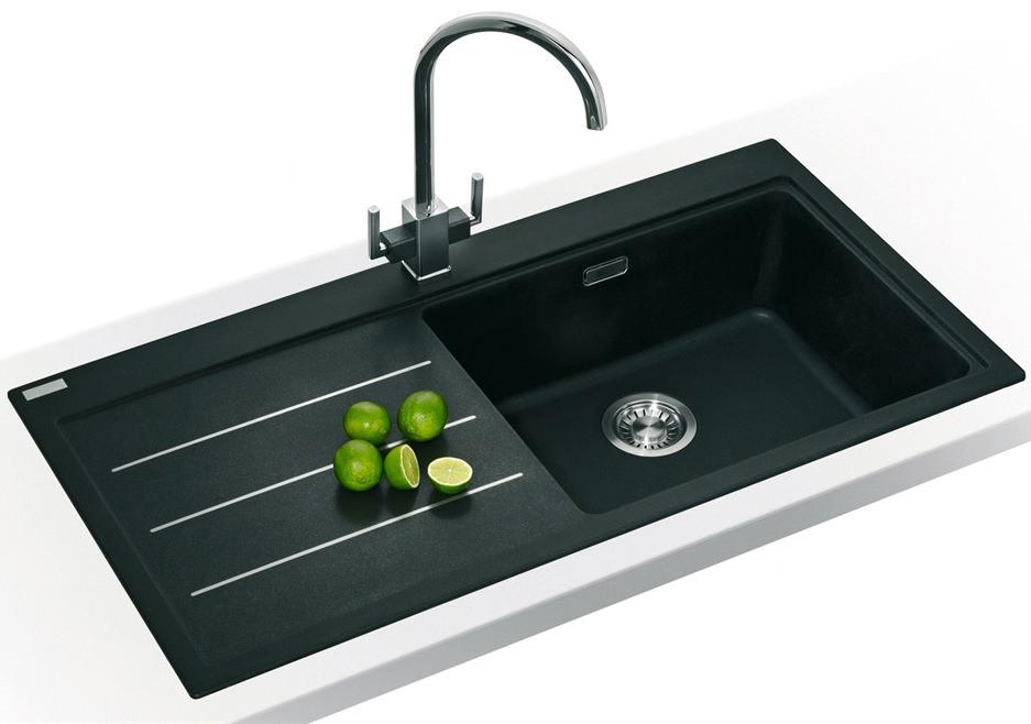 Franke Mythos Sink And Tap Pack : Franke Mythos Fusion Designer Pack MTF 611 Fragranite Onyx Sink And ...