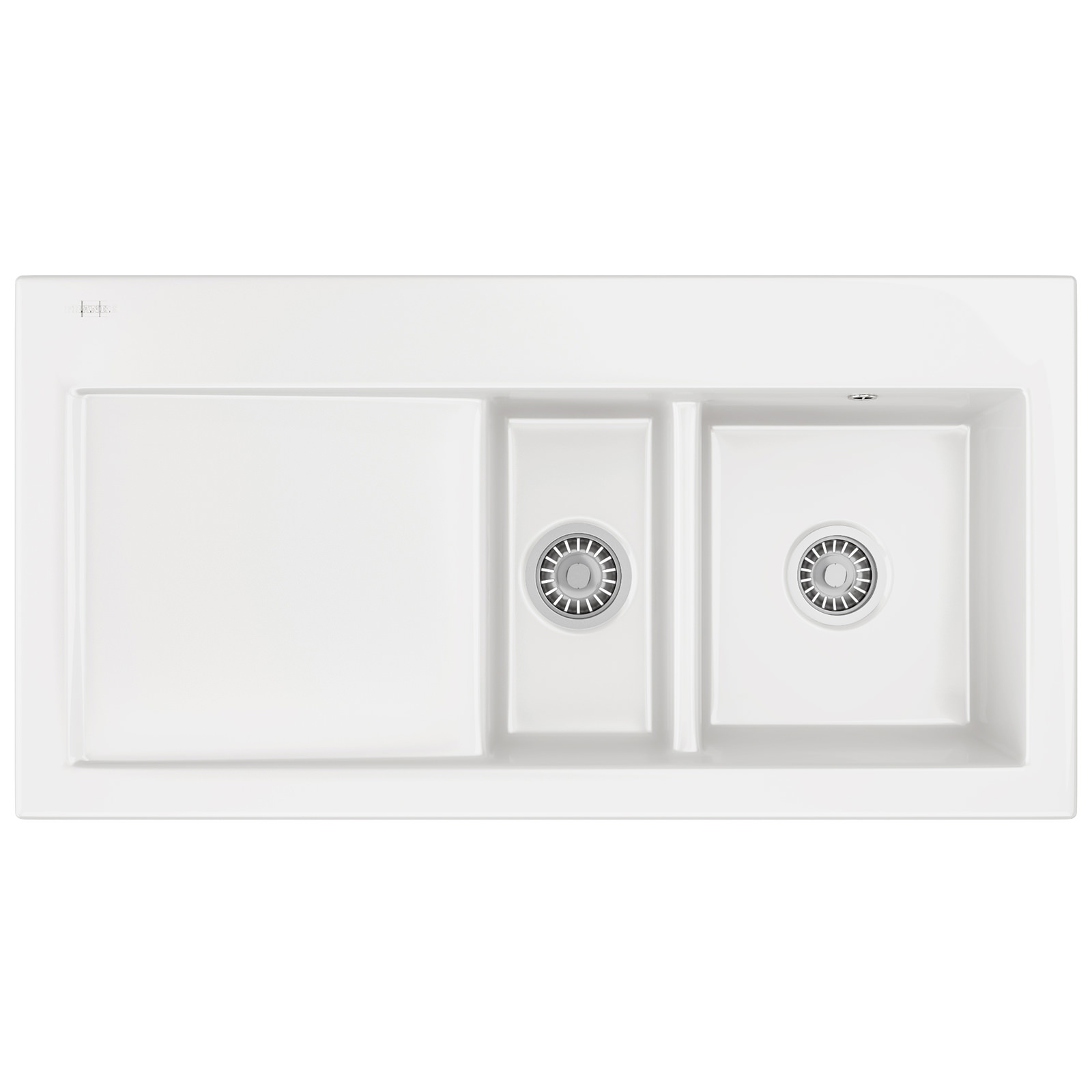 Franke Mythos MTK 651 Ceramic White 1.5 Bowl Inset Sink 124.0050.121