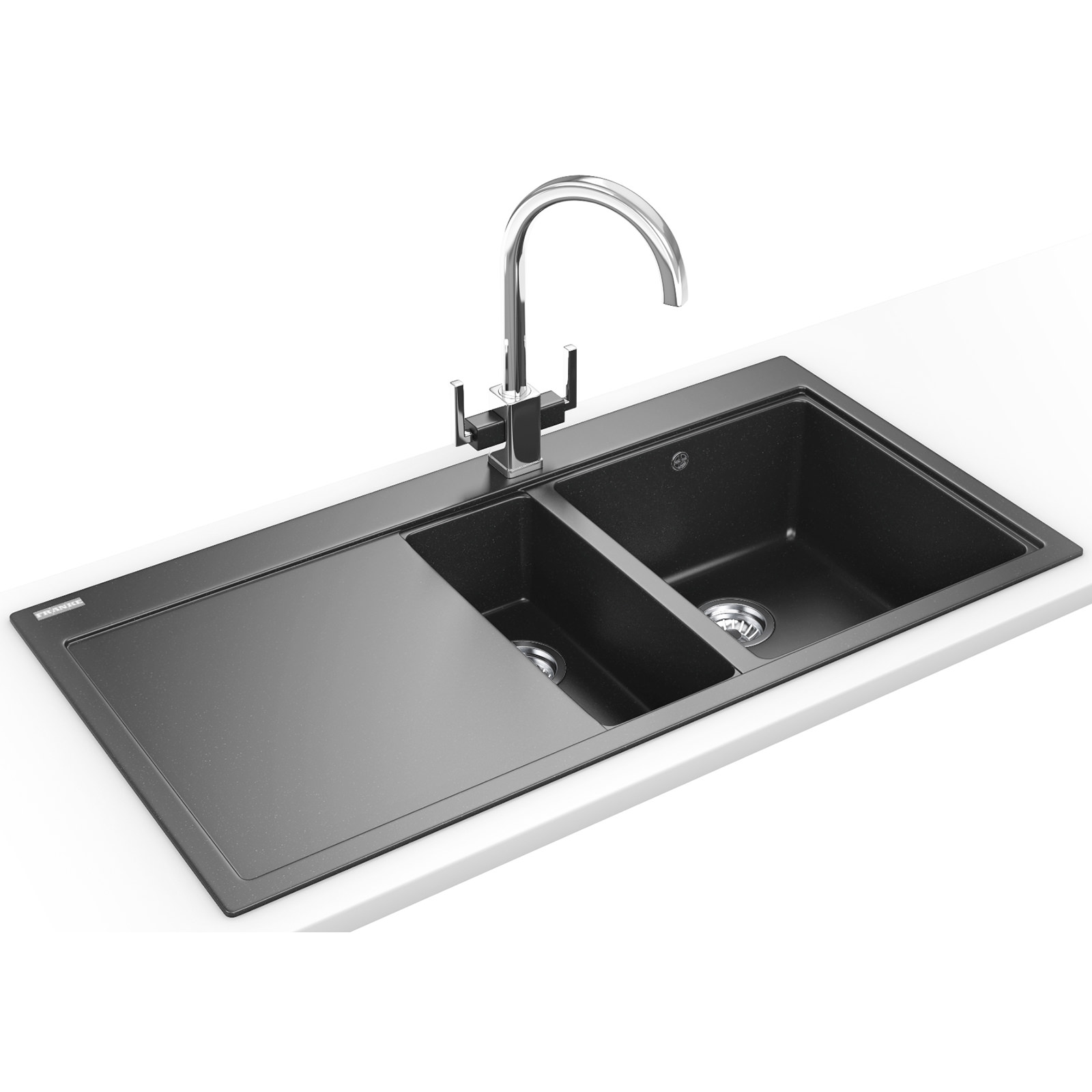 Franke Mythos Designer Pack MTG 651-100 Fragranite Onyx Sink And Tap ...