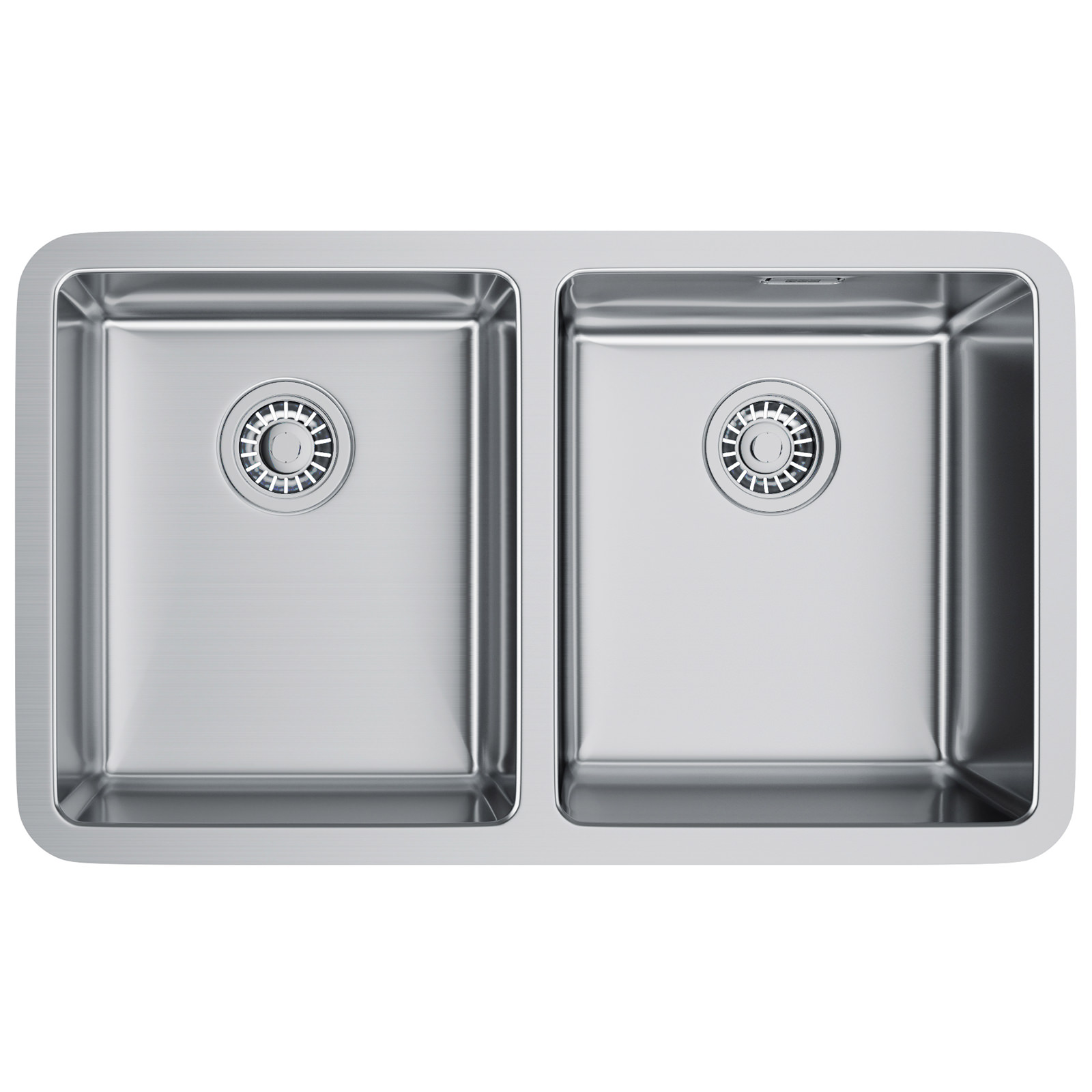 Franke Sinks Undermount Stainless Steel : Franke Kubus KBX 120 34-34 Stainless Steel 2 Bowl Undermount Sink ...