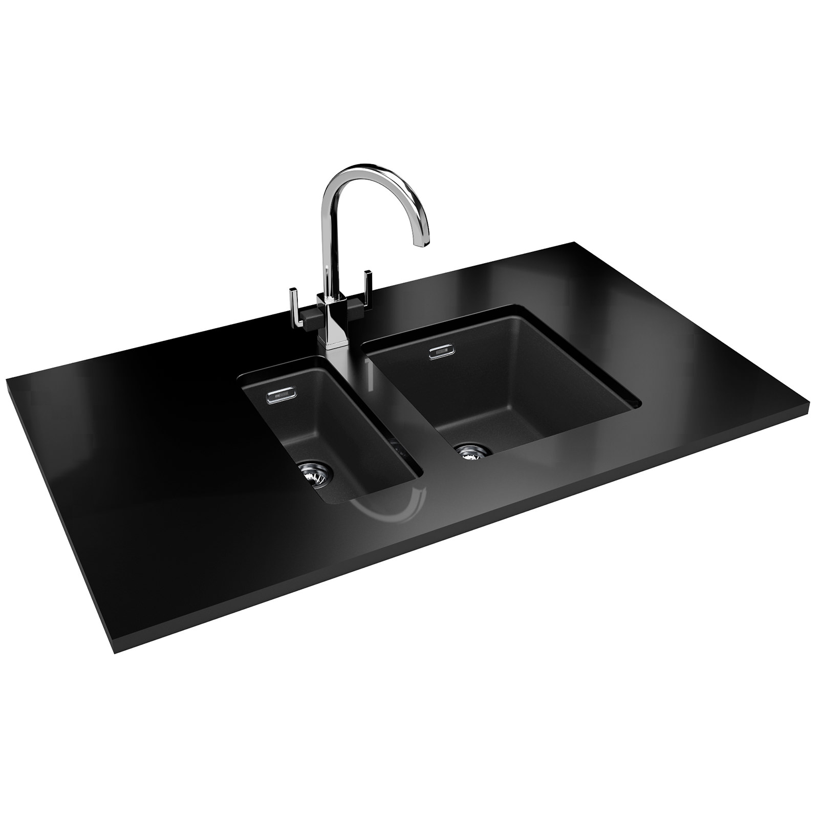 Franke Fragranite Undermount Sink : Franke Kubus KBG 110 34 Fragranite Onyx 1.0 Bowl Undermount Sink 125 ...