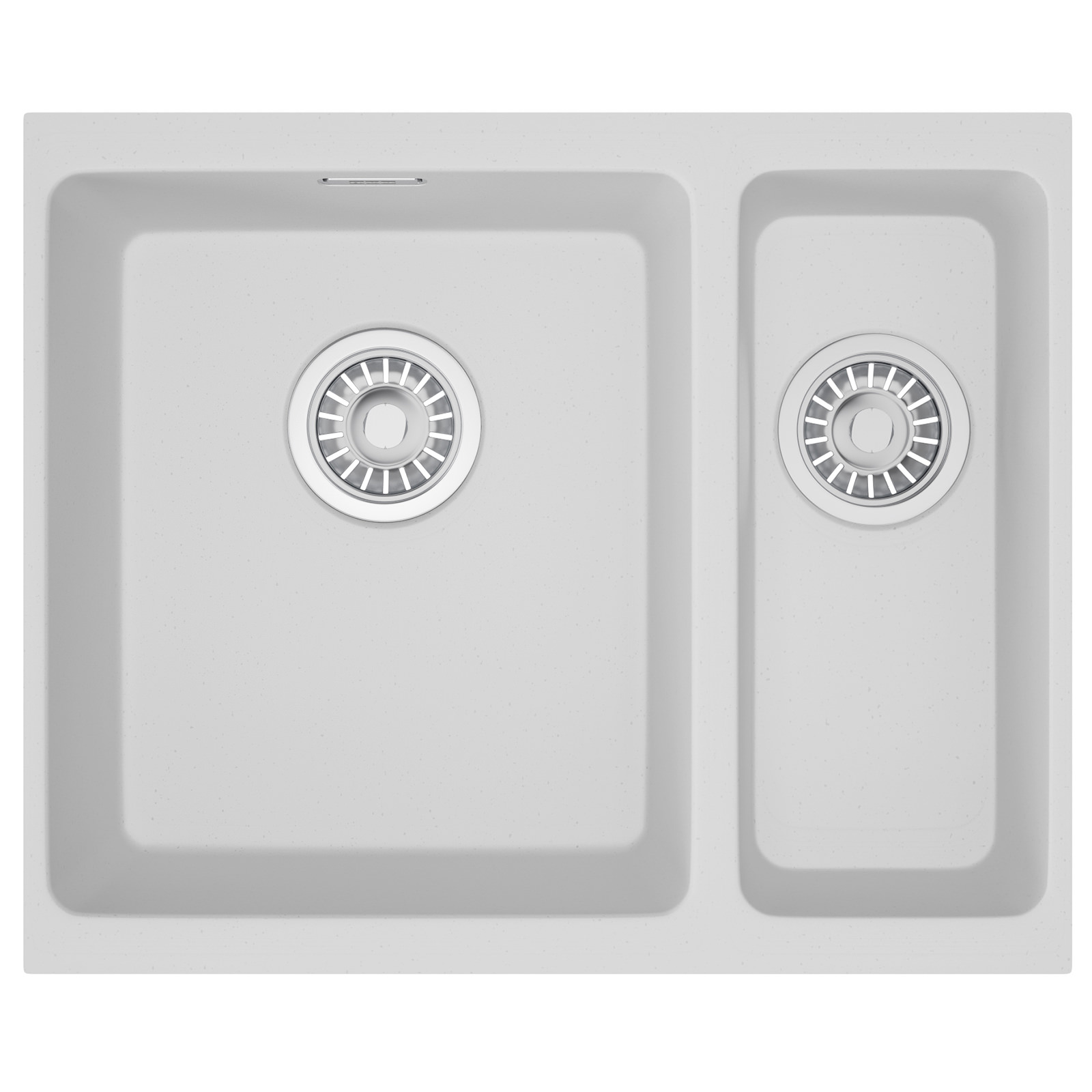Franke Fragranite Undermount Sink : Franke Kubus KBG 160 Fragranite Polar White 1.5 Bowl Undermount Sink ...