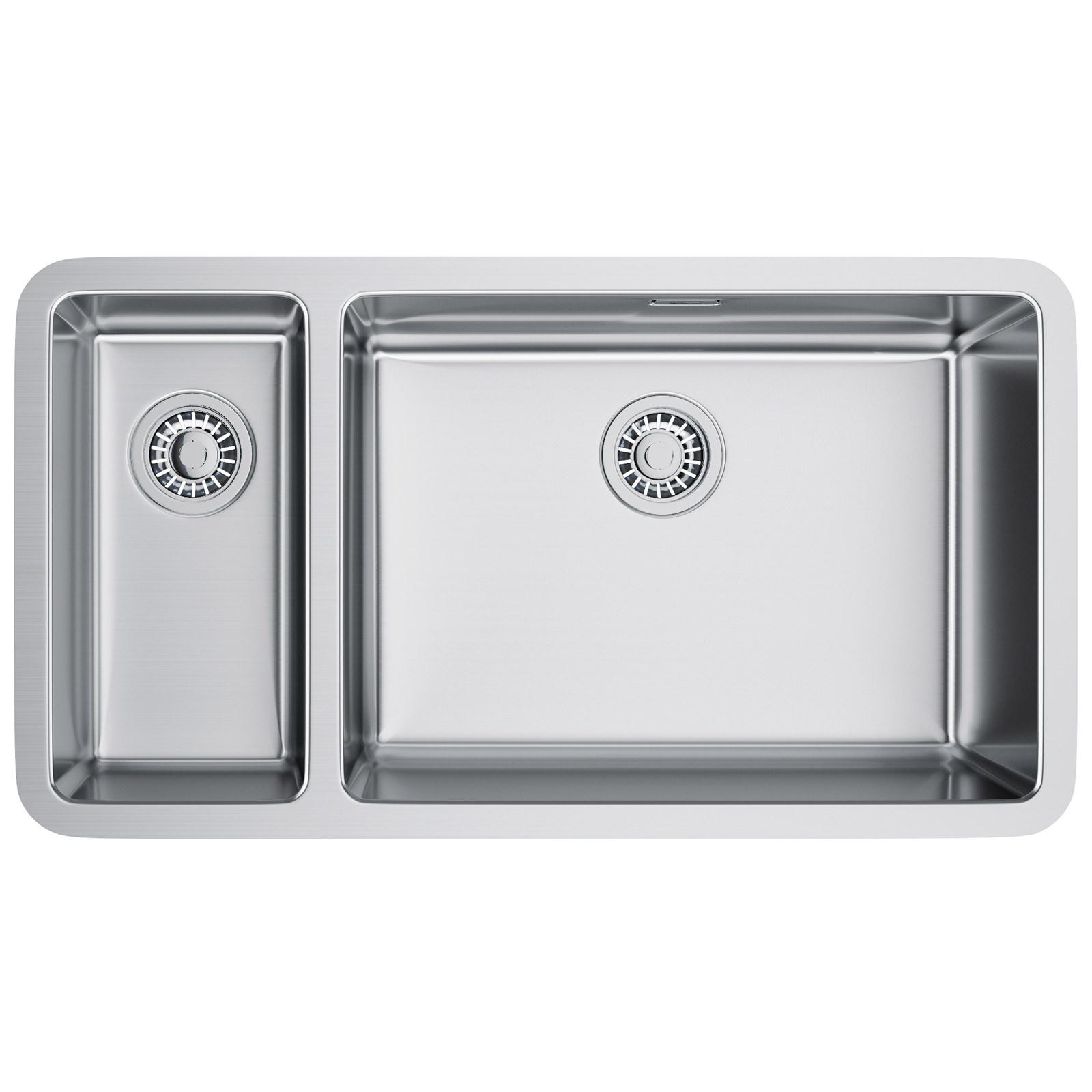 Franke kubus kbx 160 55 20 stainless steel 1 5 bowl for Franke sinks
