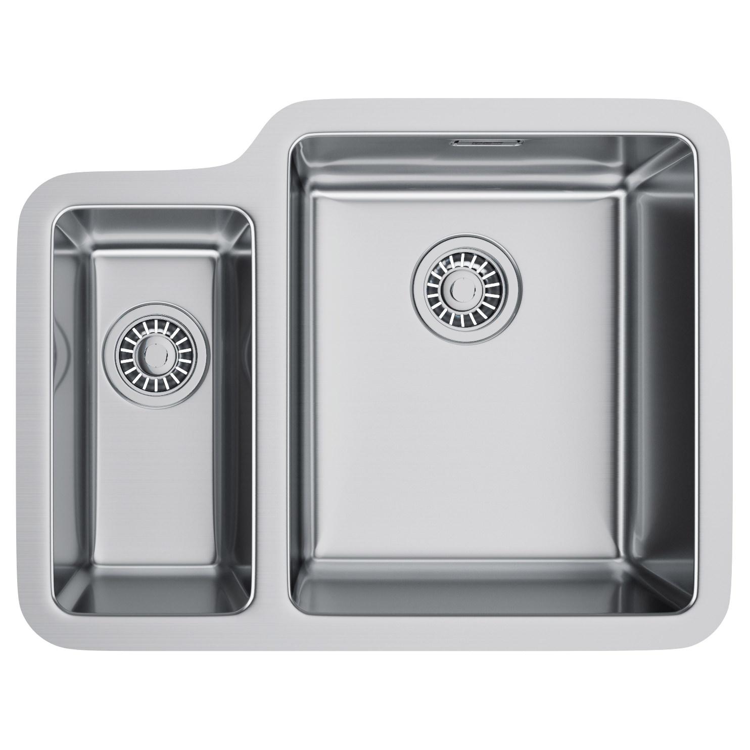Franke kubus kbx 160 34 16 stainless steel 1 5 bowl for Franke sinks