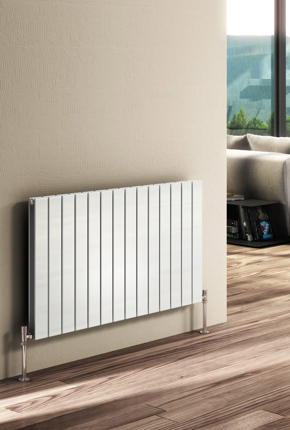Reina Flat Horizontal Double Panel Designer Radiator 588 x ...