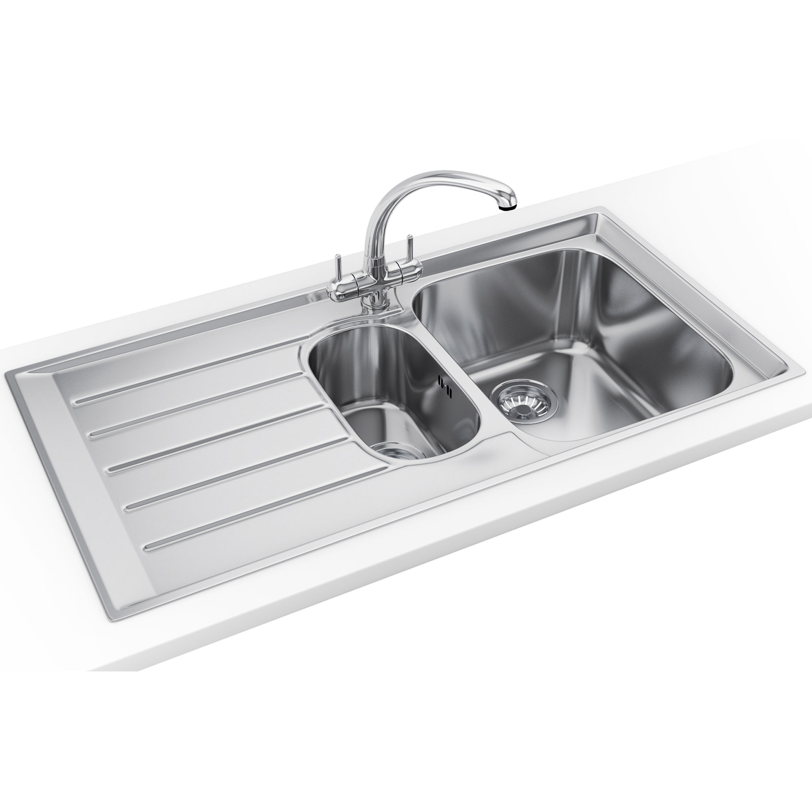 Franke Sinks And Taps : Franke Neptune Propack NEX 251 Stainless Steel Kitchen Sink And Tap