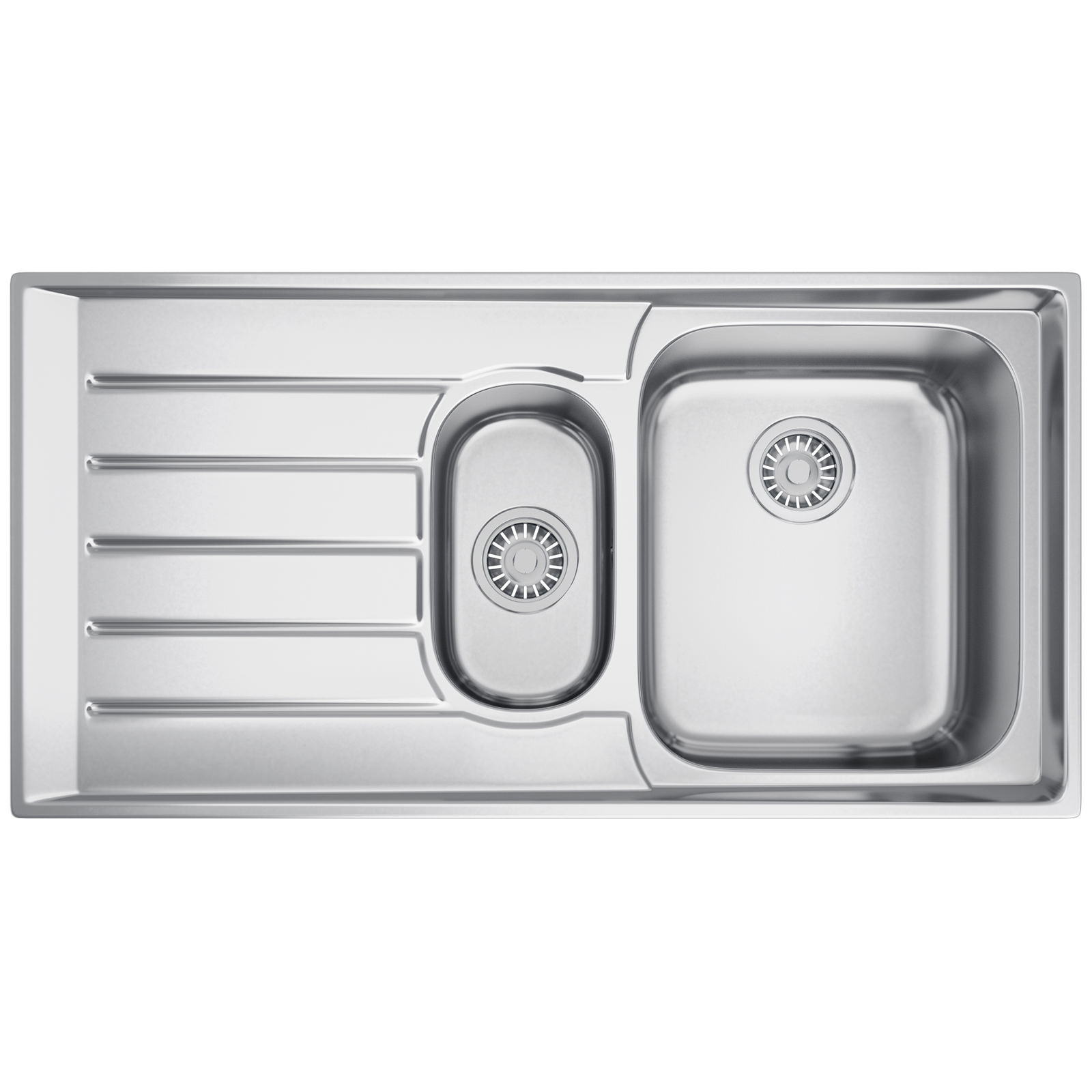 Franke Neptune NEX 251 Stainless Steel 1.5 Bowl Kitchen Inset Sink ...