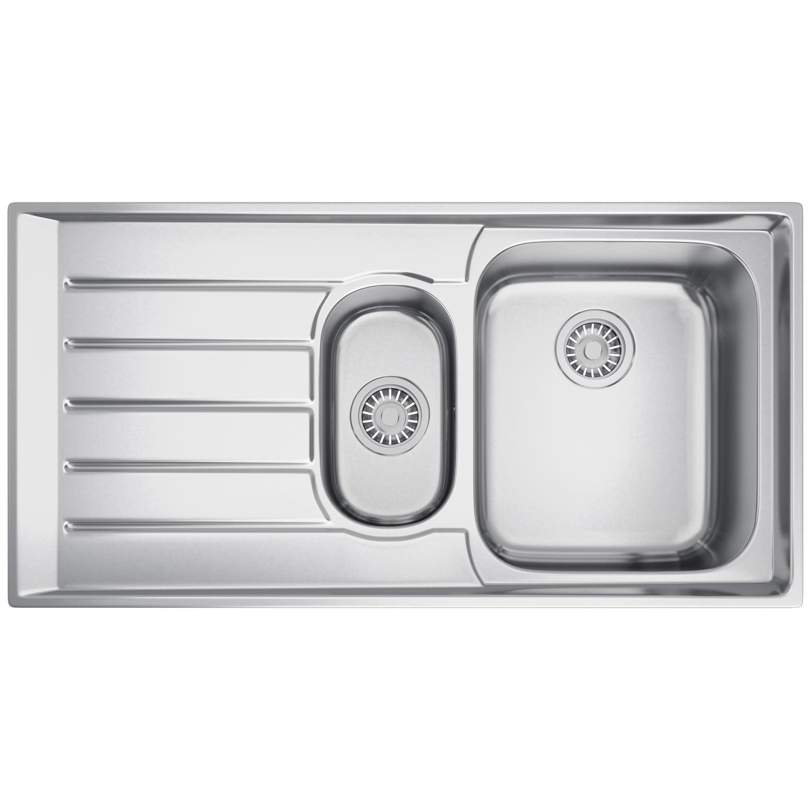 Franke Neptune NEX 251 Stainless Steel 1.5 Bowl Kitchen Inset Sink ...
