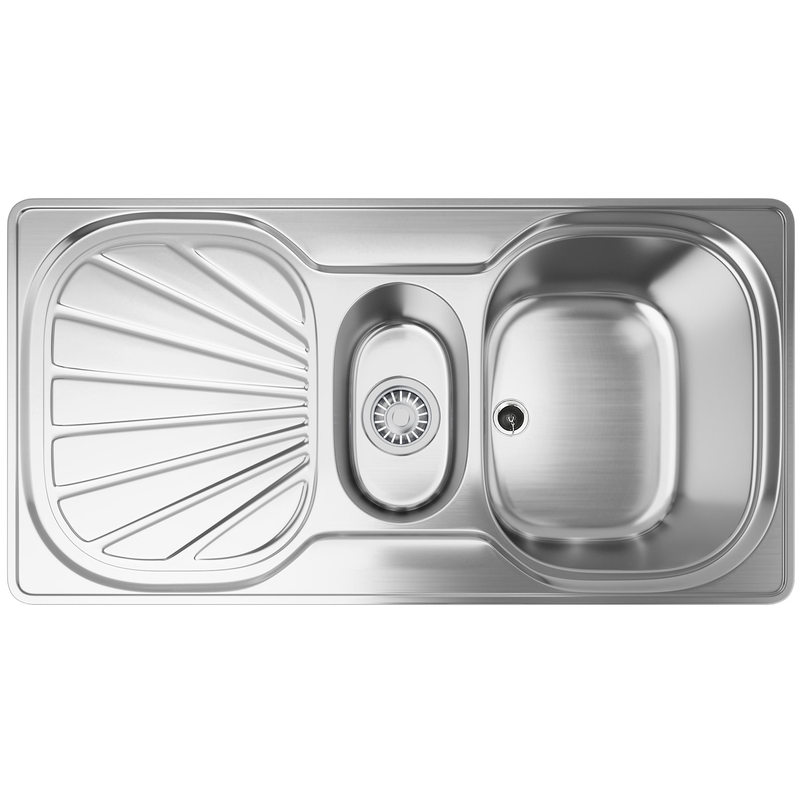 Franke Erica EUX 651 Stainless Steel 1.5 Bowl Kitchen Inset Sink ...