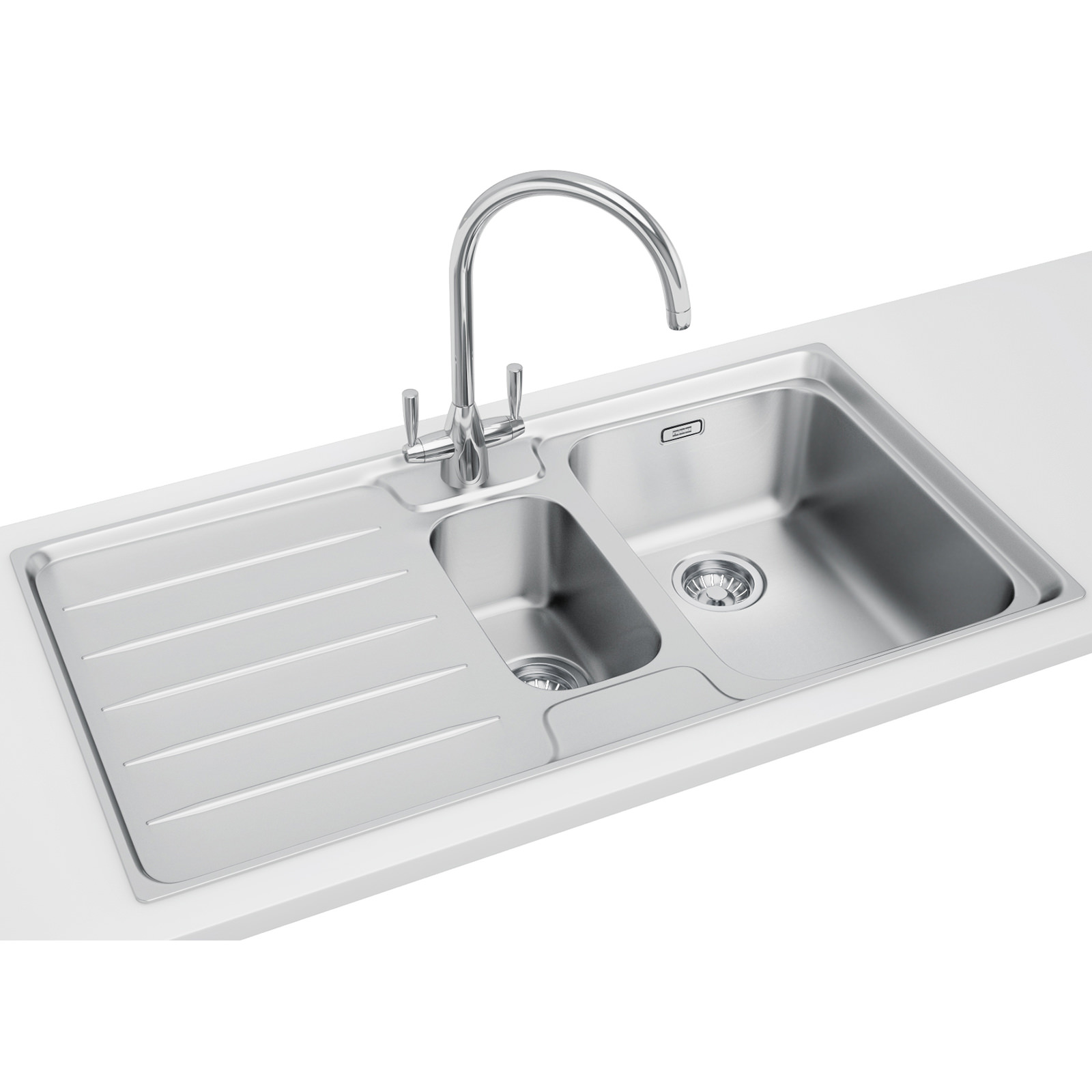 Franke Laser LSX 651 1.5 Bowl Stainless Steel Kitchen Inset Sink ...