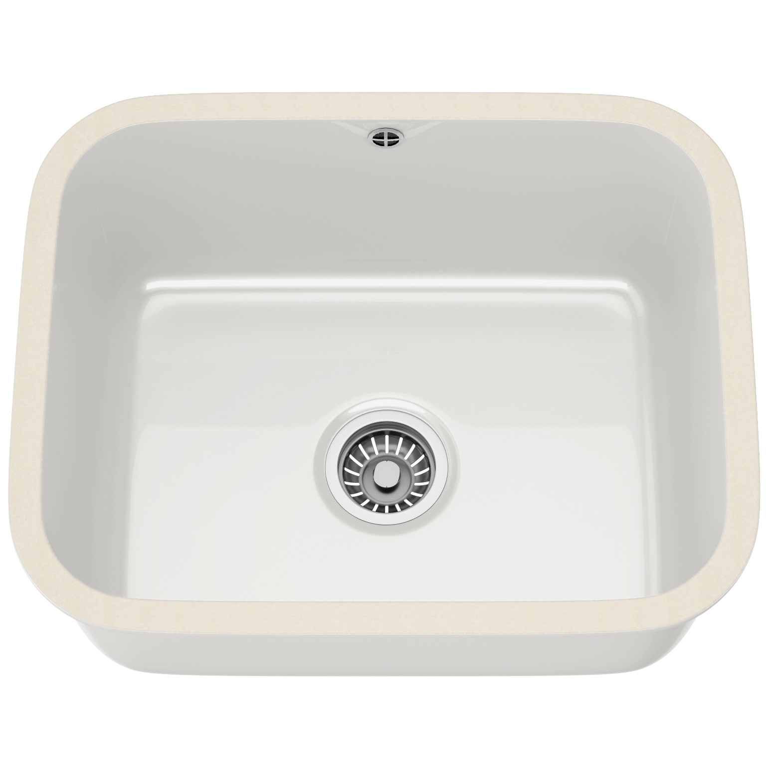 ... And B VBK 110 50 Ceramic White 1.0 Bowl Undermount Sink 126.0184.378