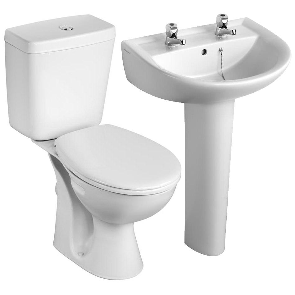Armitage Shanks Sandringham 21 Toilet And 2 Taphole Basin