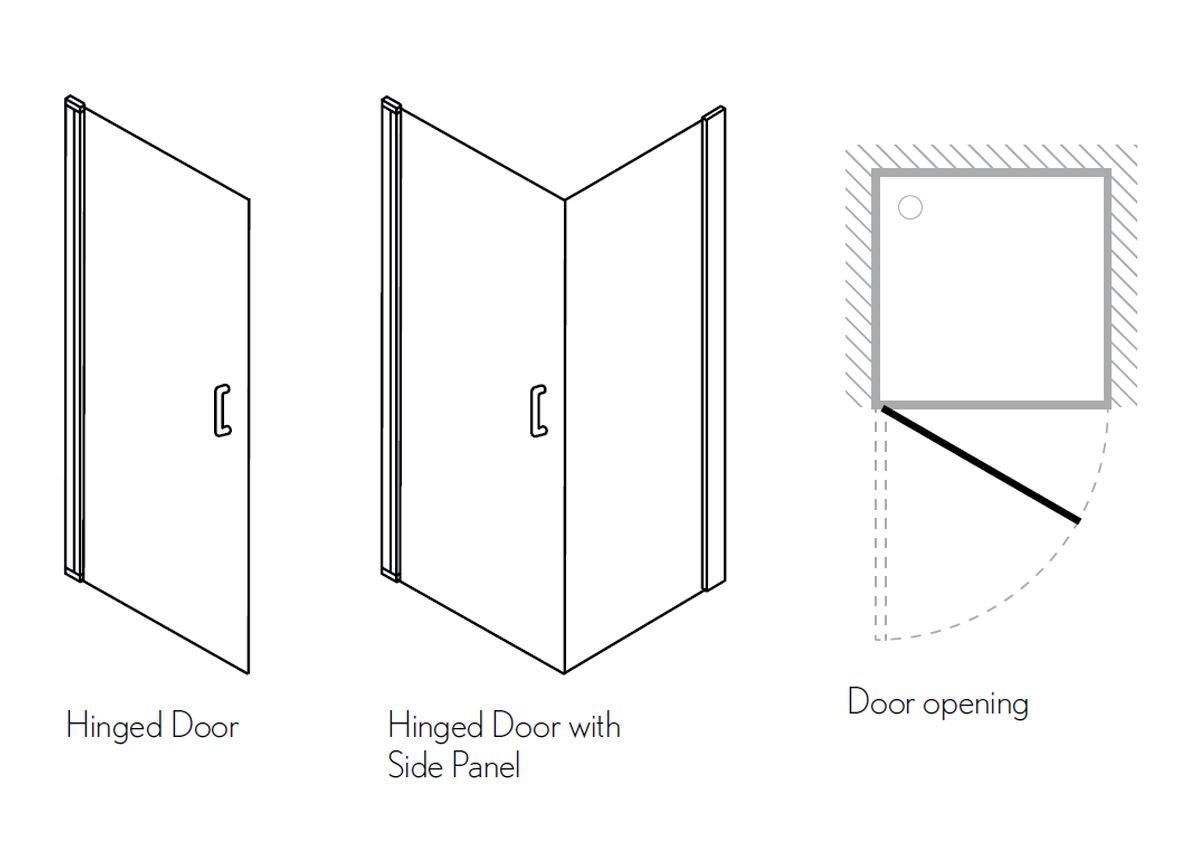 Simpsons Click Hinged Shower Door 800mm