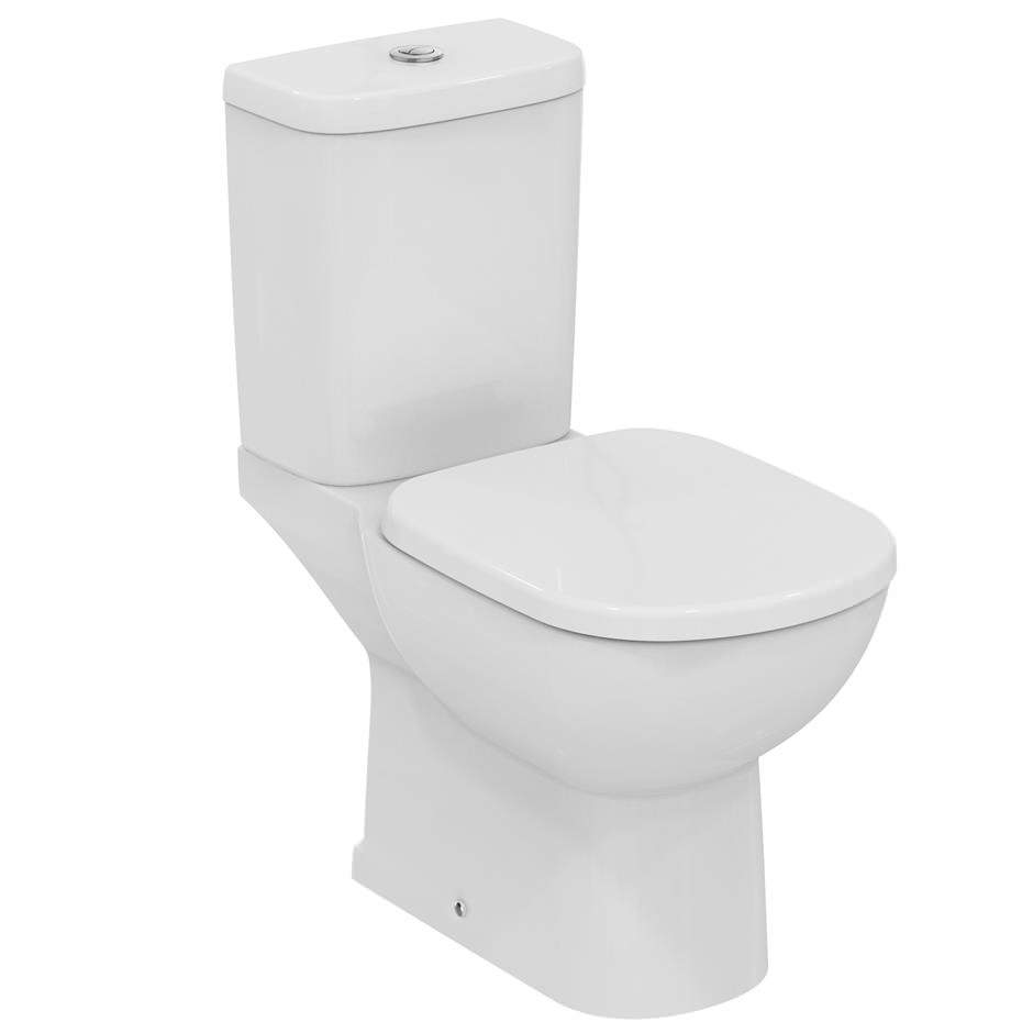 ideal standard tempo close coupled wc pan with vertical outlet 665. Black Bedroom Furniture Sets. Home Design Ideas