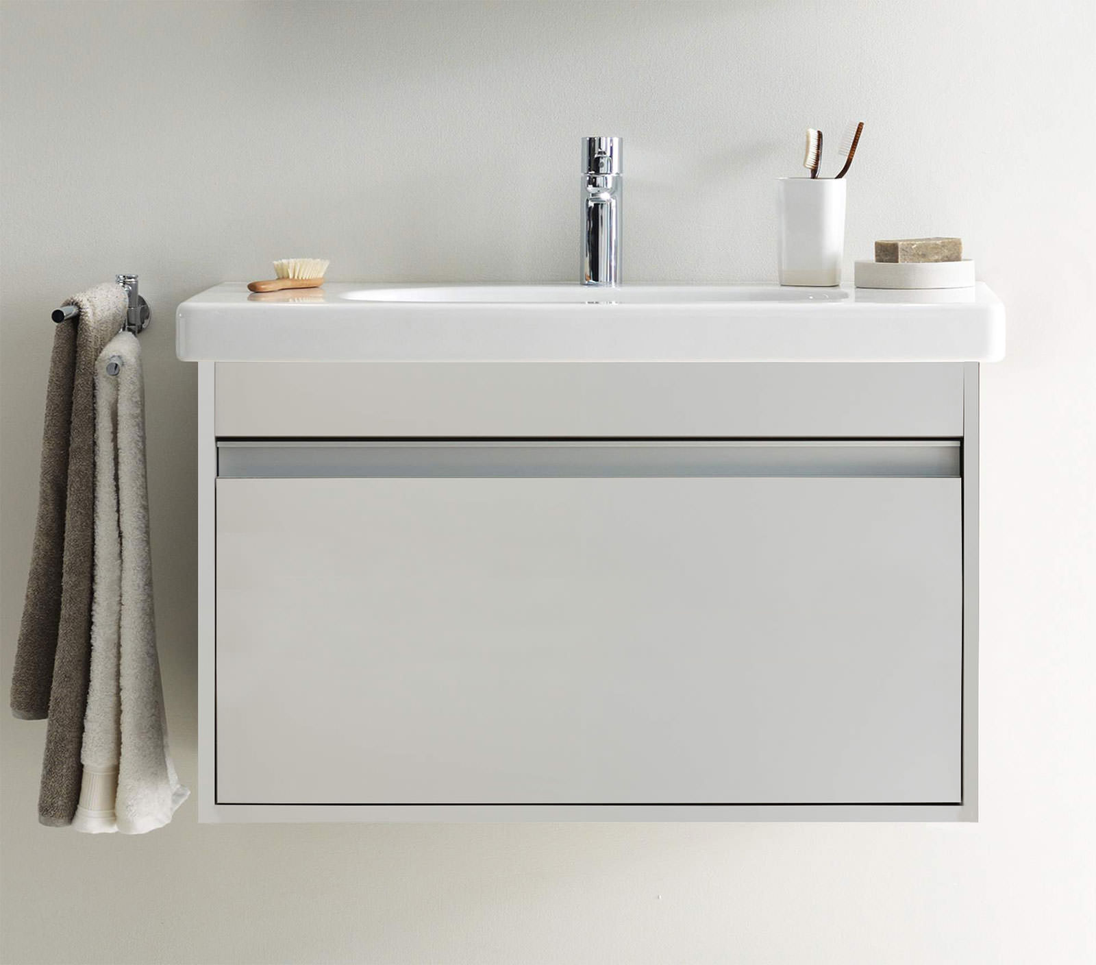 Duravit Ketho 650mm 1 Drawer Unit With 700mm Starck 3 Basin KT