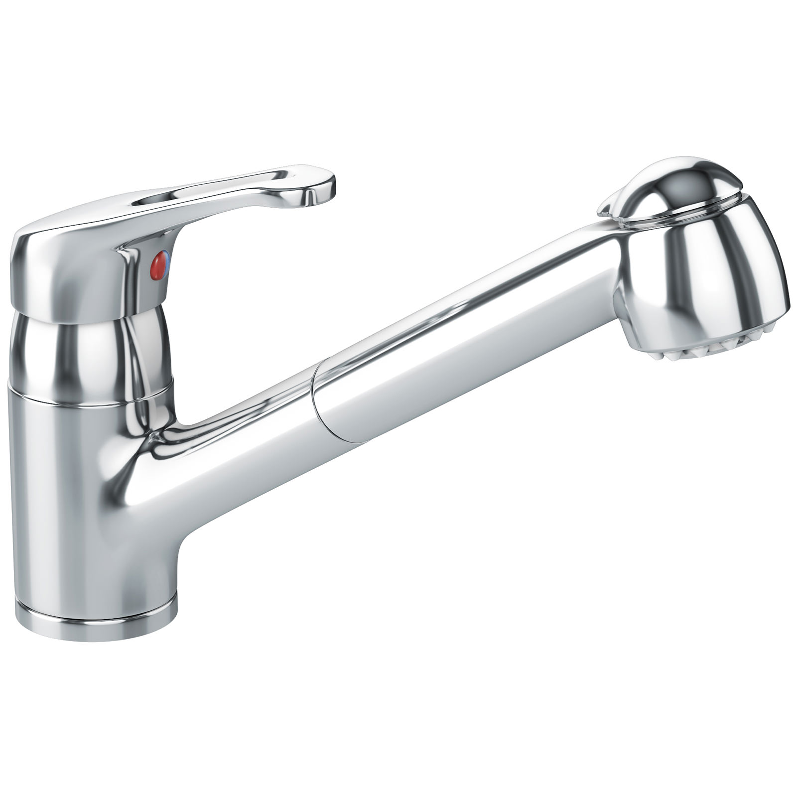 Kitchen Sink With Chrome Faucet