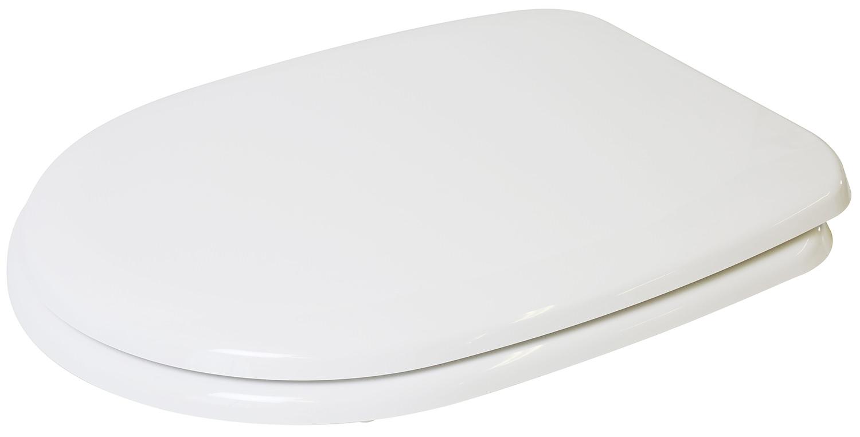 Croydex Panama White D Shaped Toilet Seat WL401122H