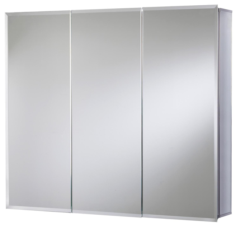 croydex kennet triple door tri view aluminium cabinet