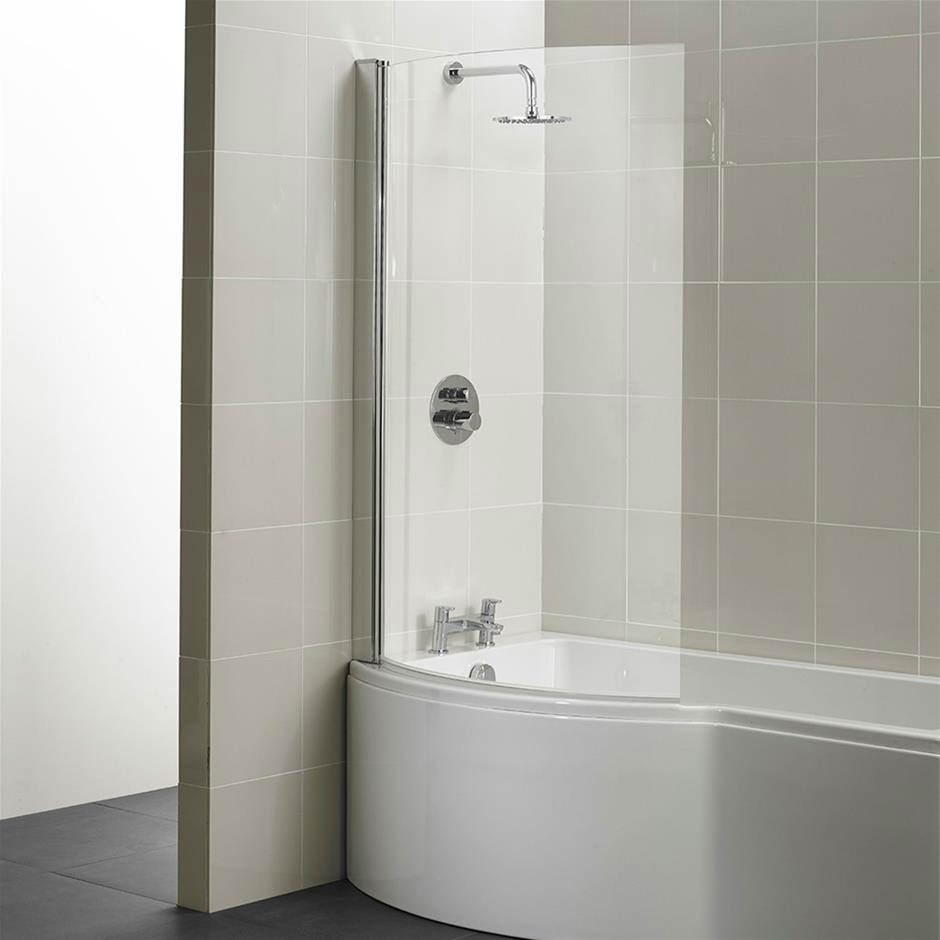 Curved Shower Screens Over Bath ideal standard concept 1022 x 1500mm curved shower bath screen | e7407aa