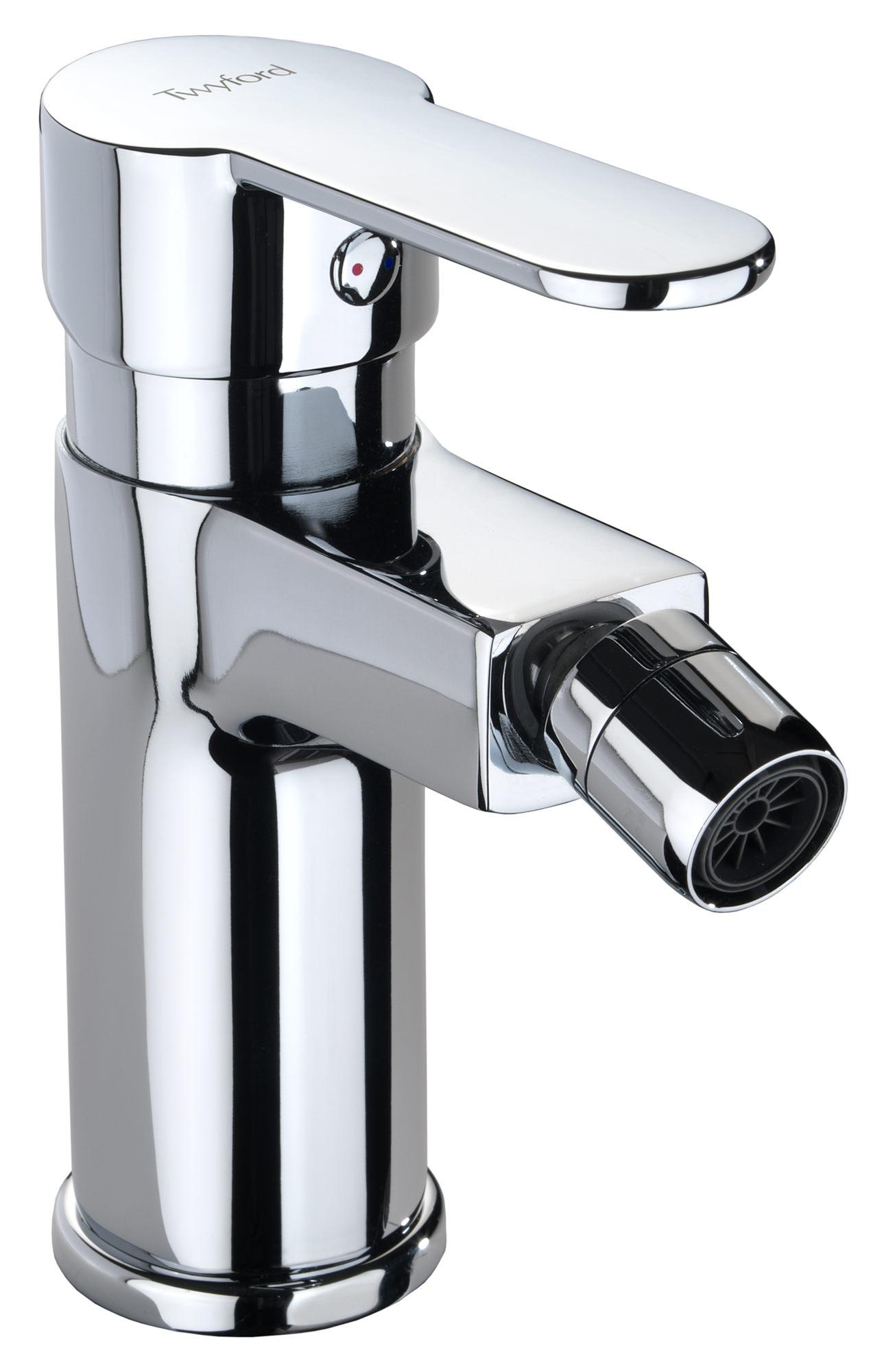 Deck Mounted Bath Shower Mixer Twyford X50 Mono Bidet Mixer Tap With Click Clack Waste