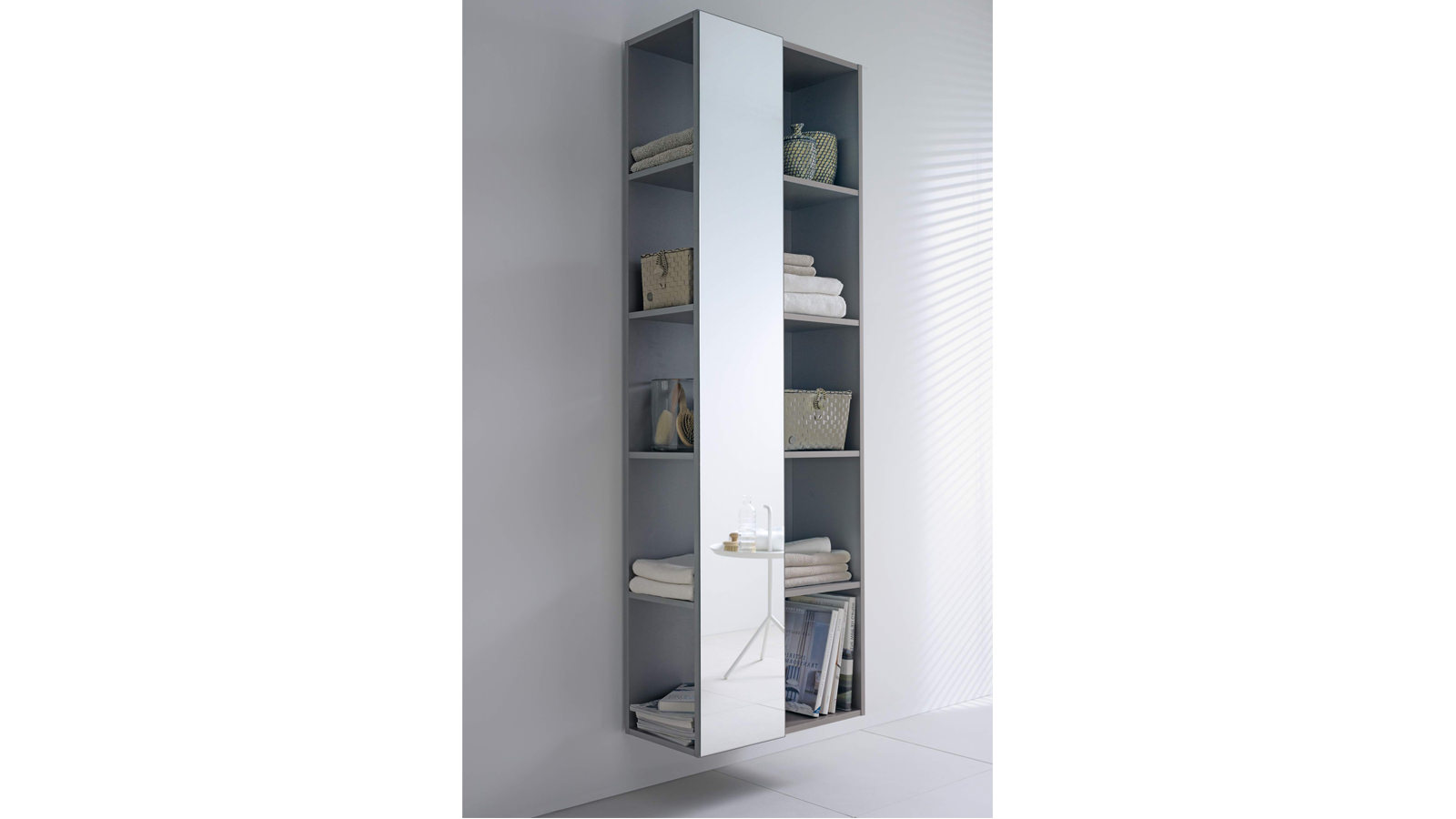 duravit darling new shelf tall with left side mirror. Black Bedroom Furniture Sets. Home Design Ideas