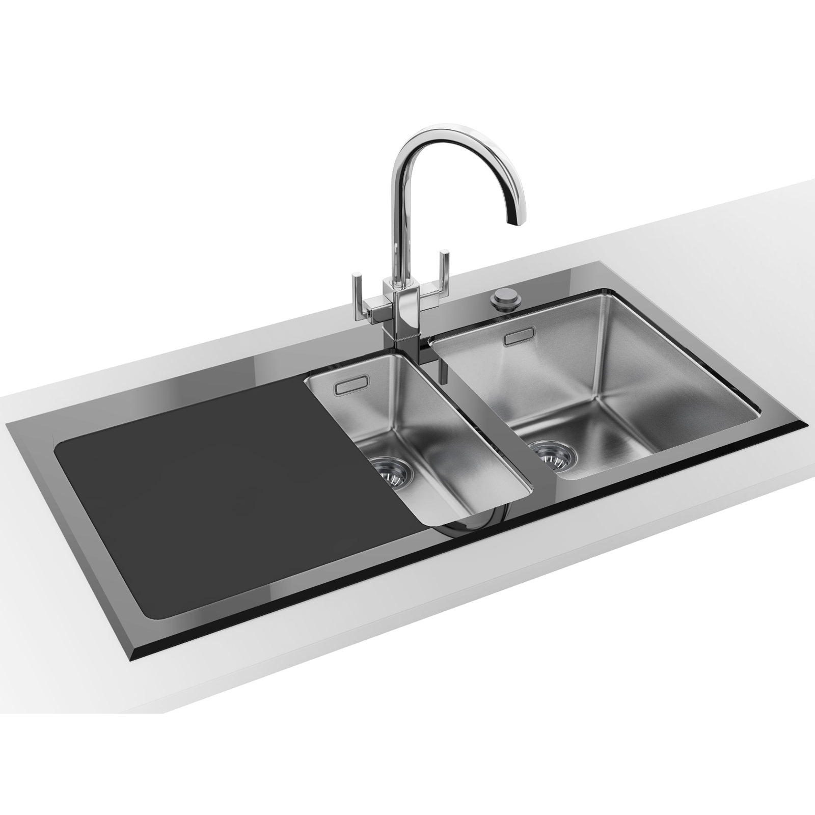 Black Stainless Steel Glass Sinks