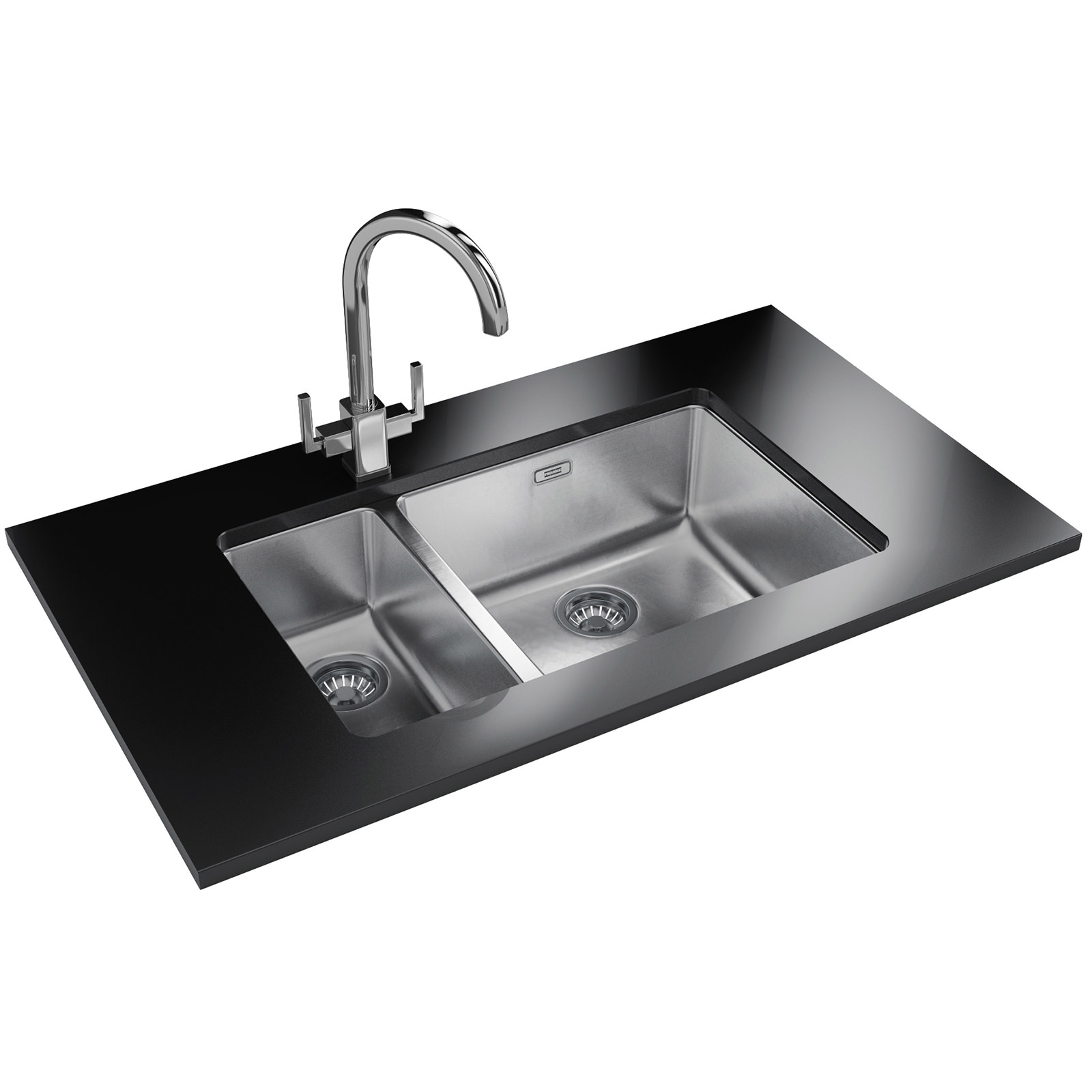Franke kubus designer pack kbx 160 45 20 undermount sink for Designer stainless steel sinks