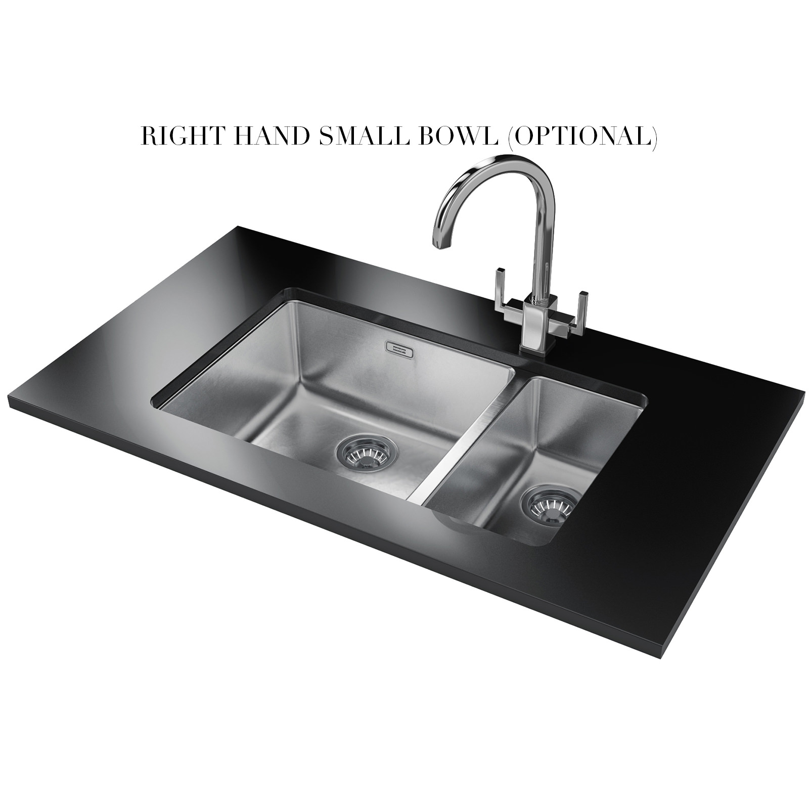 Contemporary Kitchen Designed With Undermount Sink And Led: Franke Kubus KBX 160 45-20 Stainless Steel Undermount