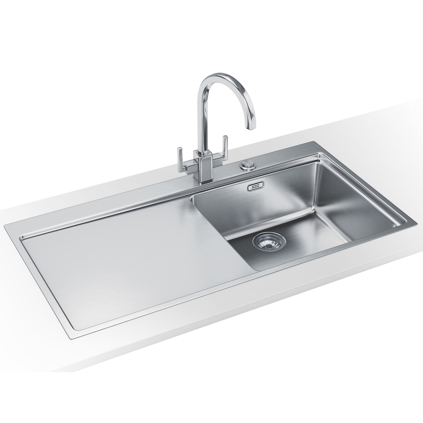 franke kitchen sinks and taps franke mythos slim top dp mmx 211 stainless steel sink and 6682
