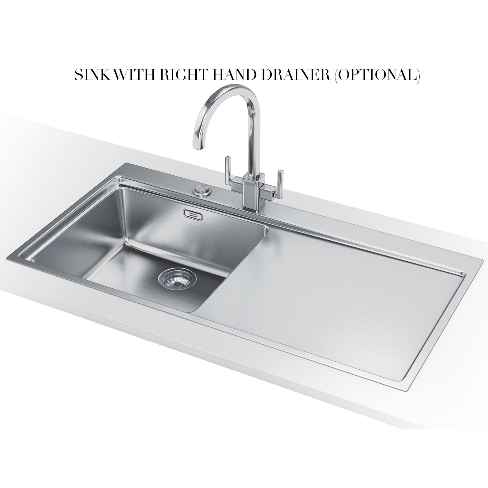 Franke Mythos Sink Stainless Steel : ... of Franke Mythos MMX 211 Slim-Top 1.0 Bowl Stainless Steel Inset Sink