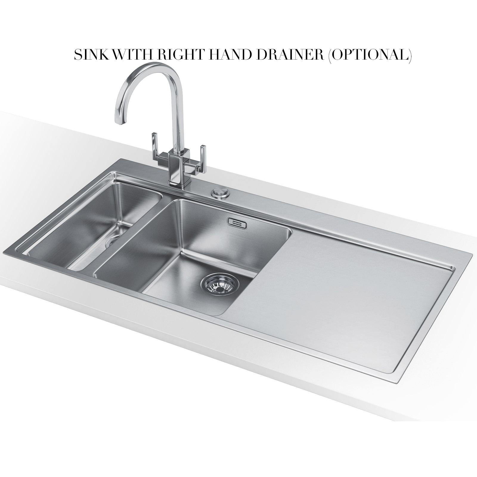 Franke Mythos Stainless Steel Sink : ... of Franke Mythos MMX 261 Slim-Top 1.5 Bowl Stainless Steel Inset Sink