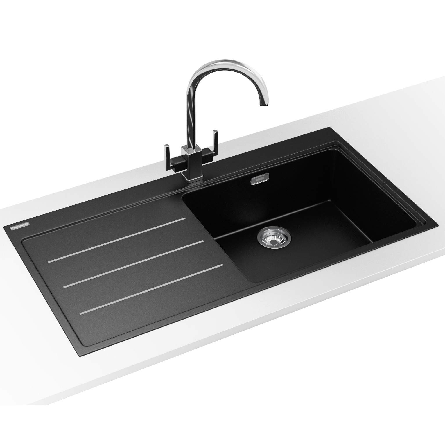 Franke mythos fusion dp mtf 611 fragranite onyx sink and tap - Designer sinks ...