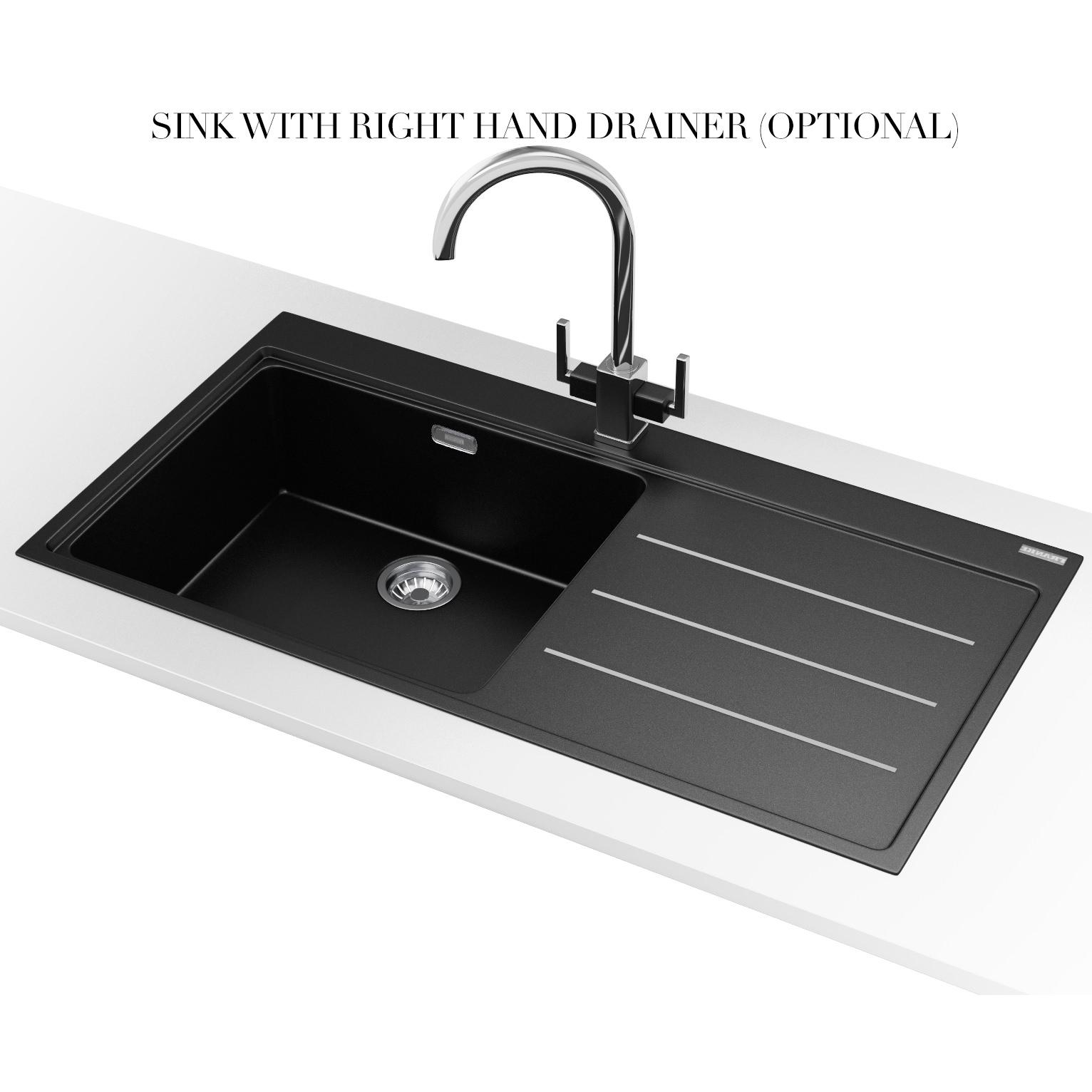 Franke Mythos Fusion MTF 611 Fragranite Onyx 1.0 Bowl Inset Sink 114 ...